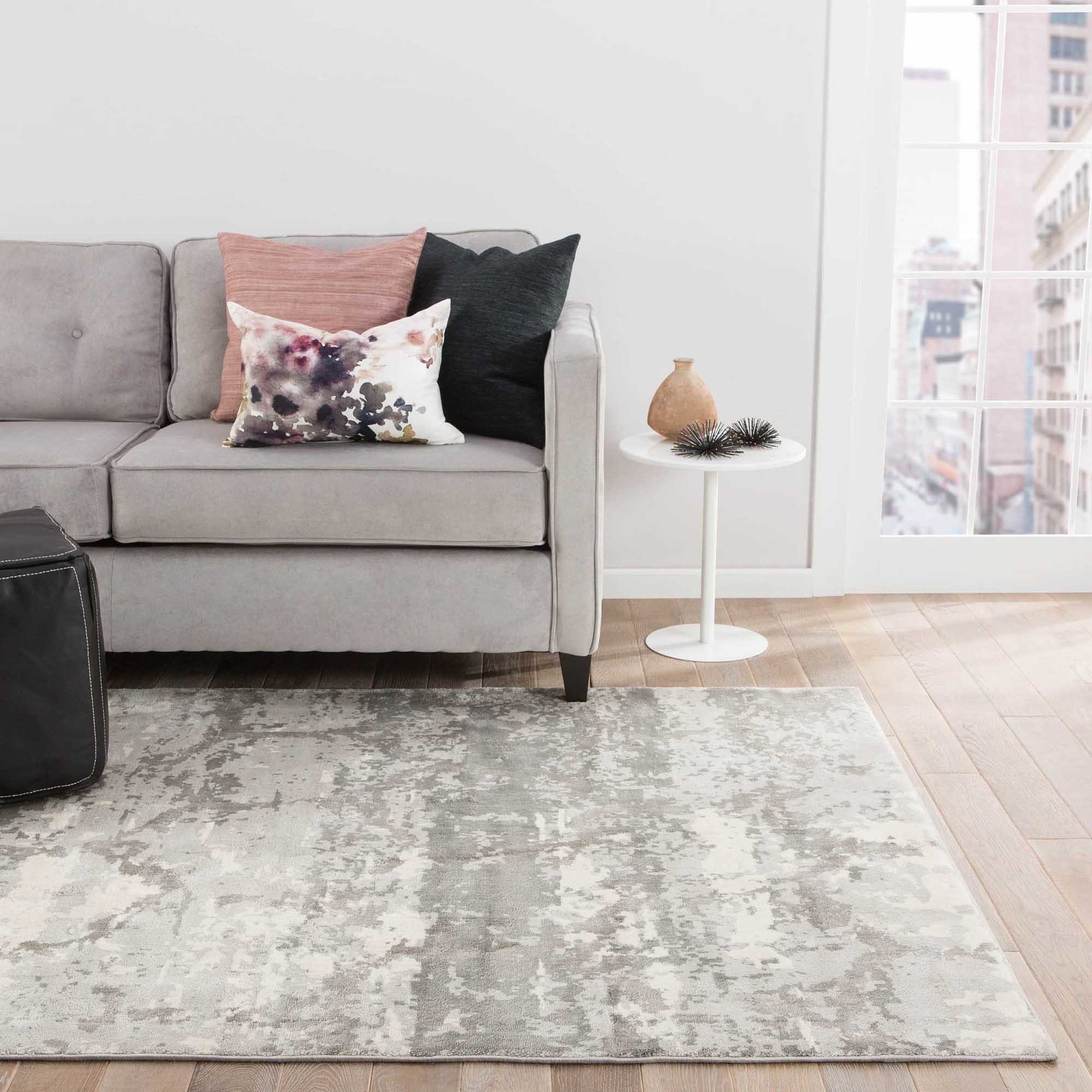 Oriel Abstract Gray/ Taupe Area Rug (10\' X 13\') - 10\' x 13\' - Free ...