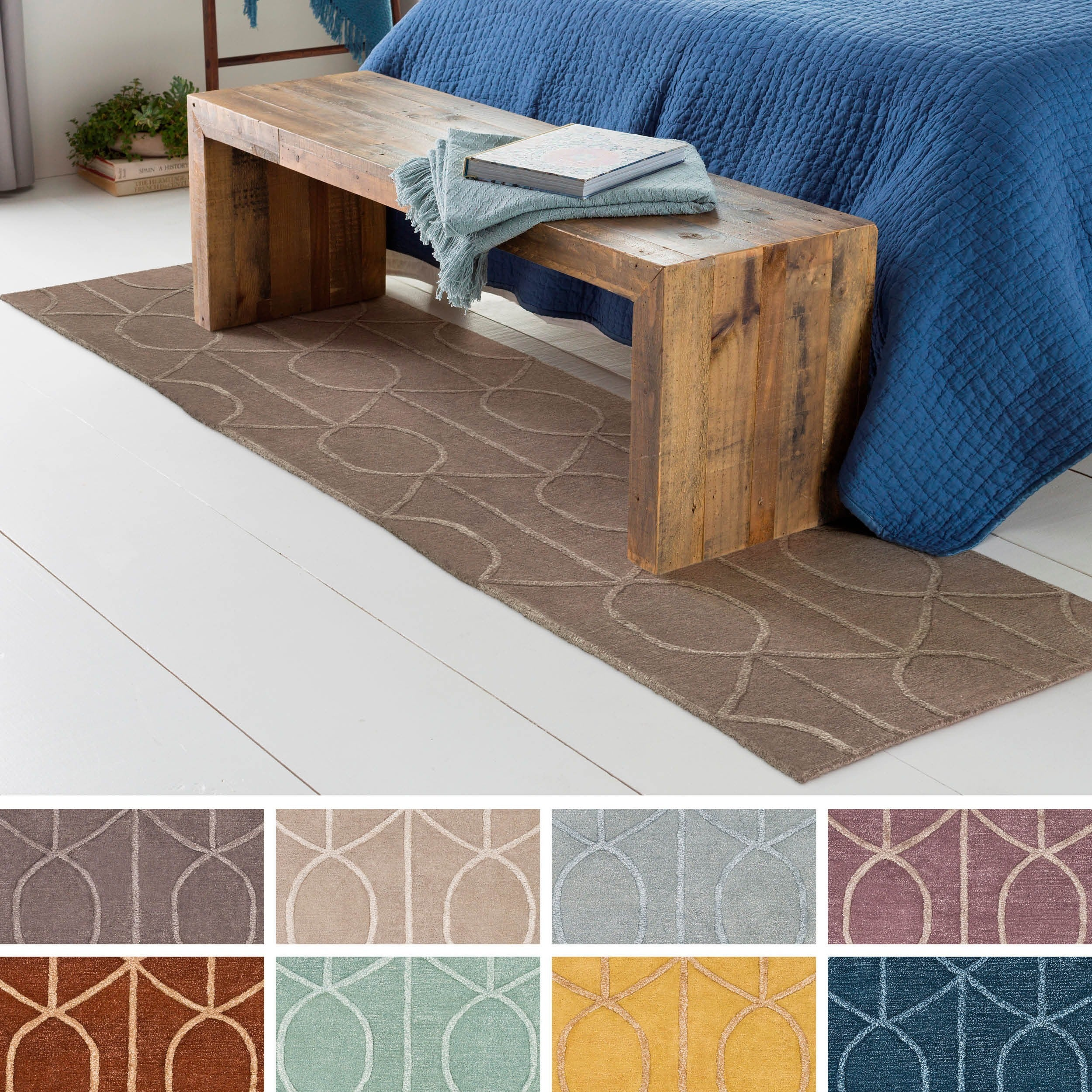 Hand tufted taunton wool rug
