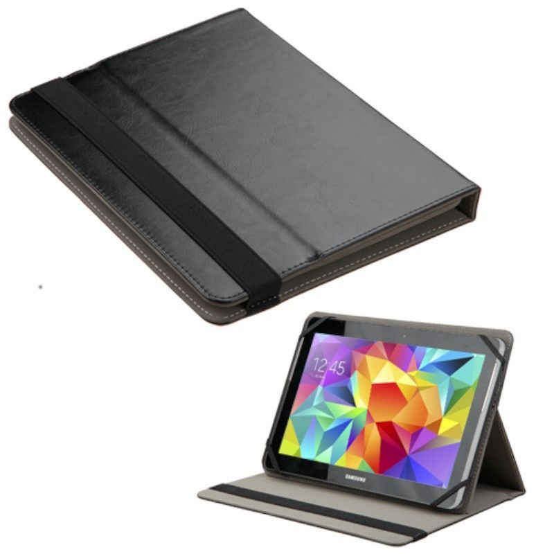 Shop INSTEN Black Universal 9 10 Inch Tablet Leather Case Cover