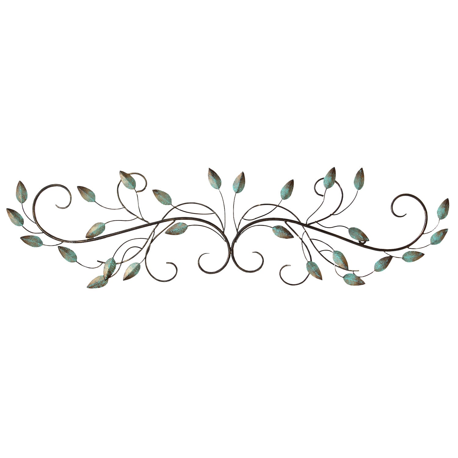 Stratton Home Decor Patina Scroll Leaf Wall Decor   Free Shipping Today    Overstock.com   18115773