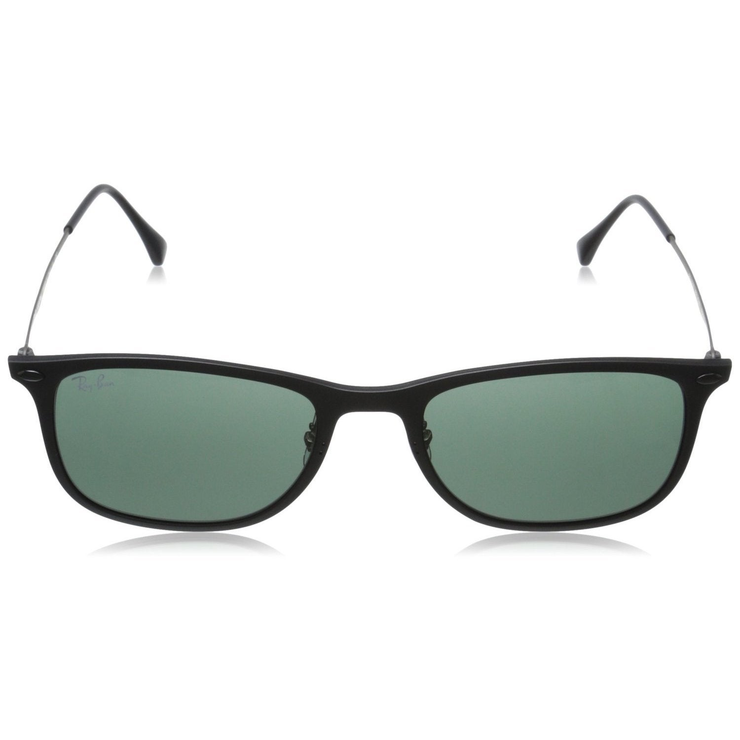 f5fc6f4511 Shop Ray-Ban RB4225 601S71 New Wayfarer Light Ray Unisex Black Frame Green  Classic 52mm Lens Sunglasses - Free Shipping Today - Overstock - 11118534