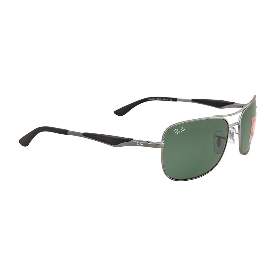 709067b723 Shop Ray-Ban RB3515 004 71 Men s Gunmetal Frame Green Classic 58mm Lens  Sunglasses - Free Shipping Today - Overstock - 11118536