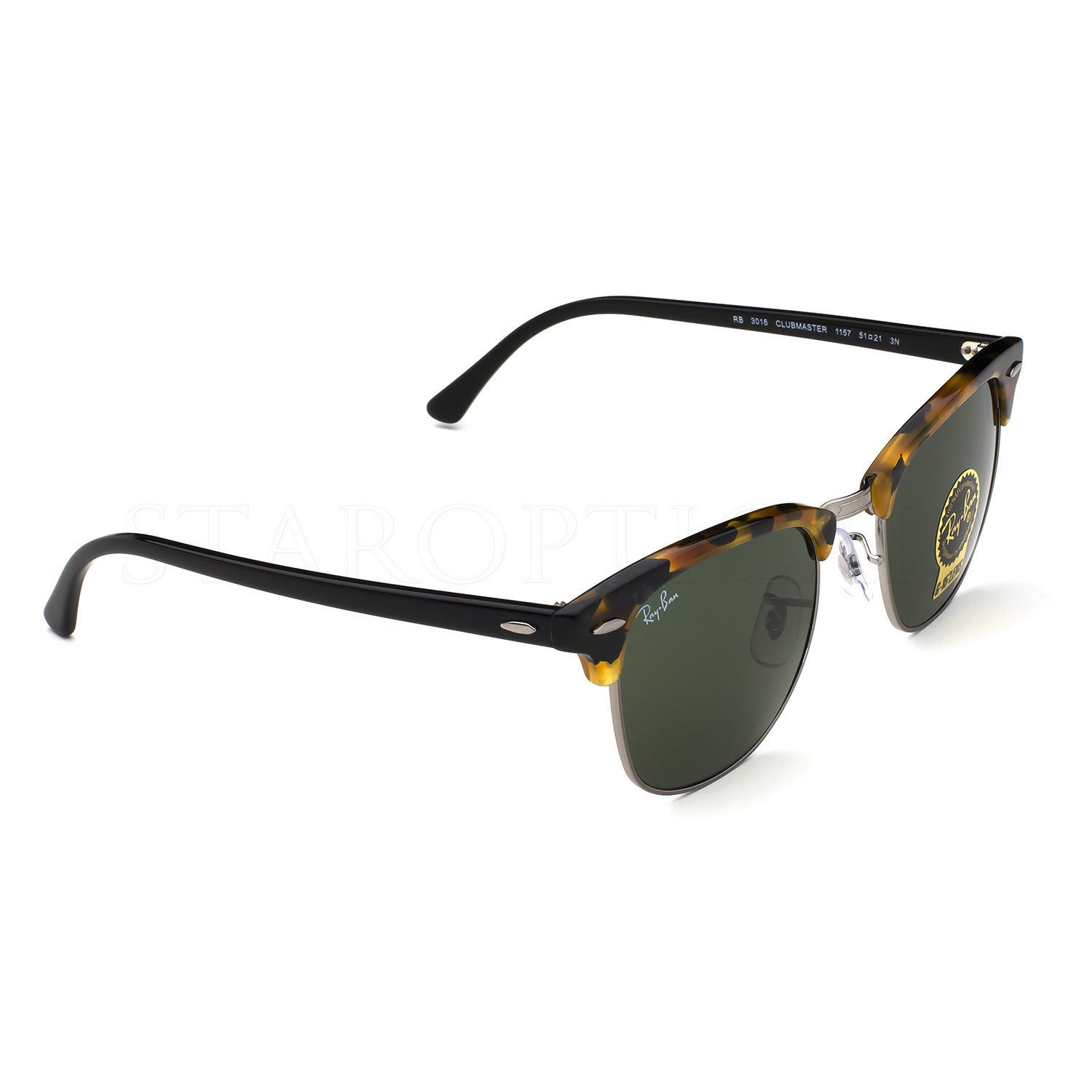 bedd312a01 Shop Ray-Ban RB3016 1157 Unisex Tortoise Black Frame Green Classic 49mm  Lens Sunglasses - Free Shipping Today - Overstock - 11118537