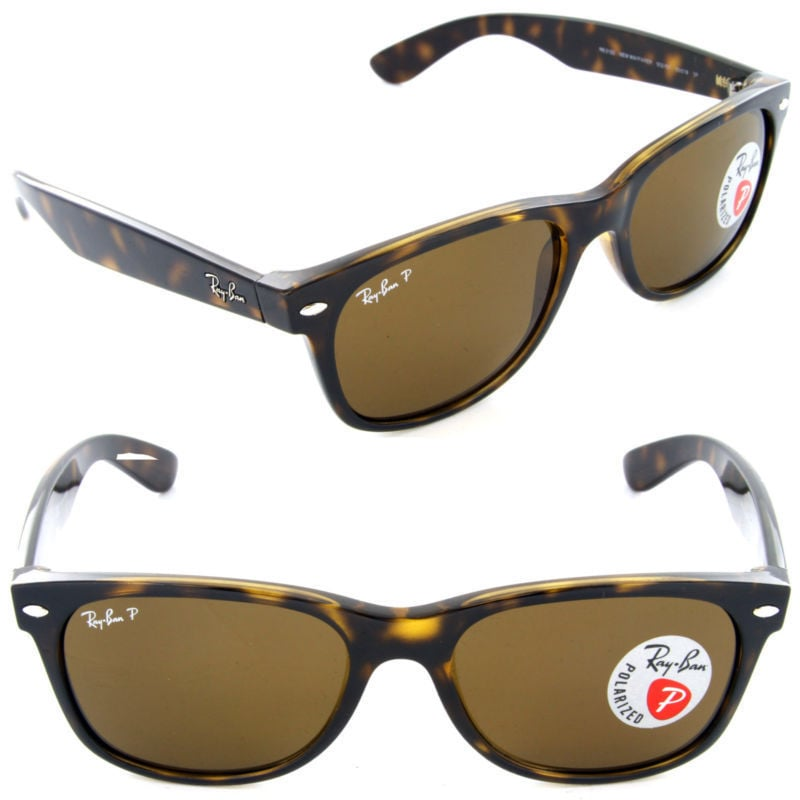 077f7bc5a20 Shop Ray-Ban RB2132 902 57 Unisex New Wayfarer Classic Tortoise Frame  Polarized Brown 55mm Lens Sunglasses - Free Shipping Today - Overstock -  11118555