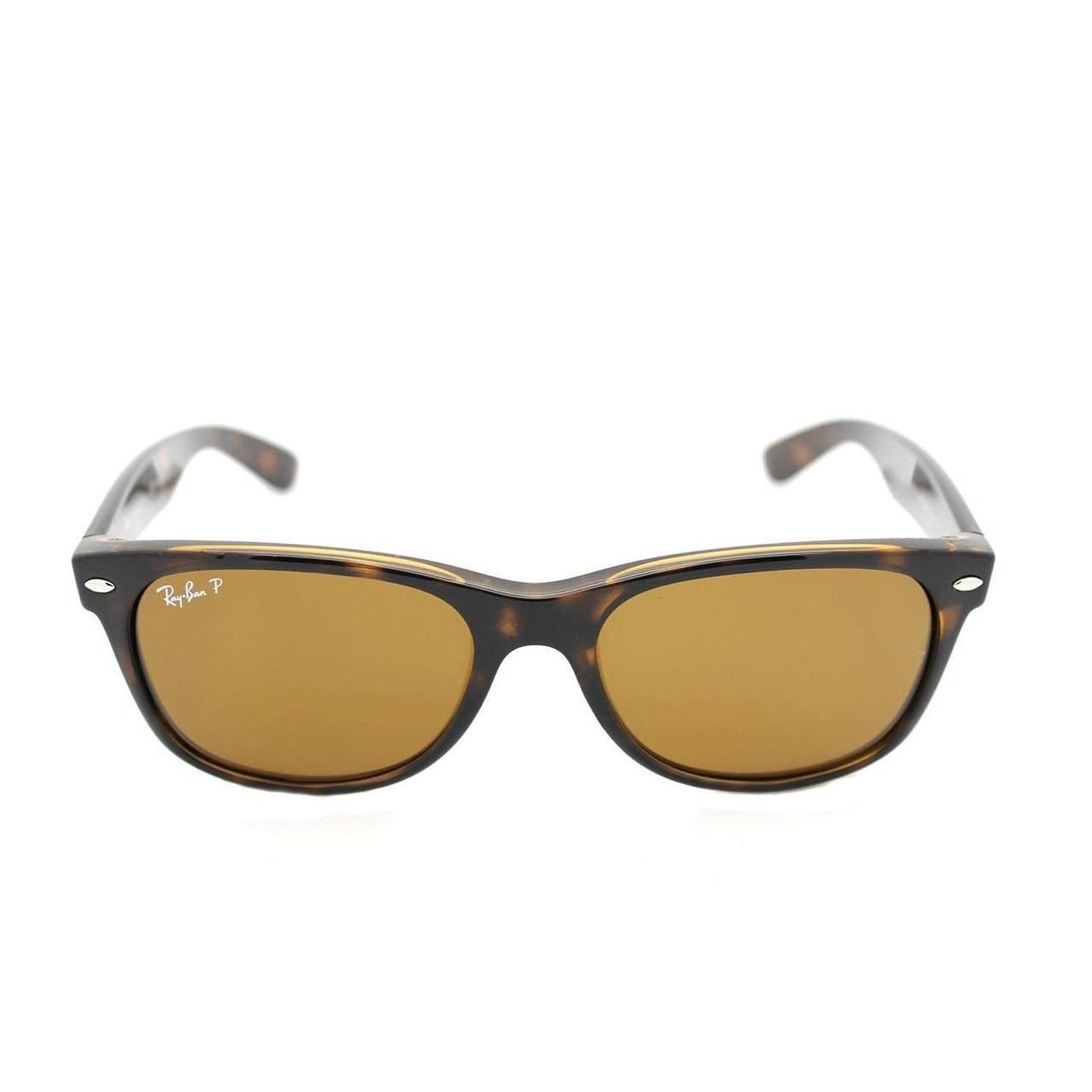 f9795c5de2d72 Shop Ray-Ban RB2132 902 57 Unisex New Wayfarer Classic Tortoise Frame  Polarized Brown 55mm Lens Sunglasses - Free Shipping Today - Overstock -  11118555