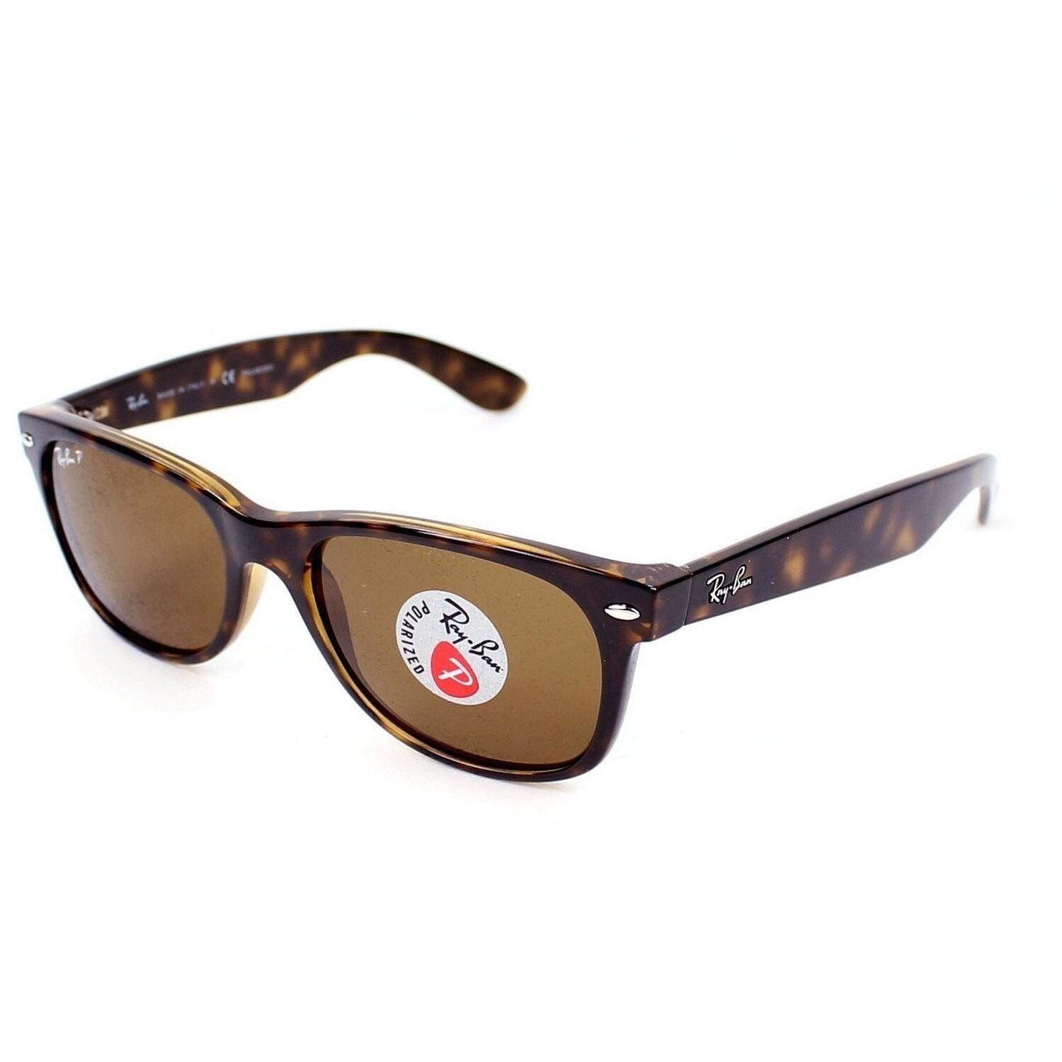 40de1cc521 Shop Ray-Ban RB2132 902 57 Unisex New Wayfarer Classic Tortoise Frame  Polarized Brown 55mm Lens Sunglasses - Free Shipping Today - Overstock -  11118555