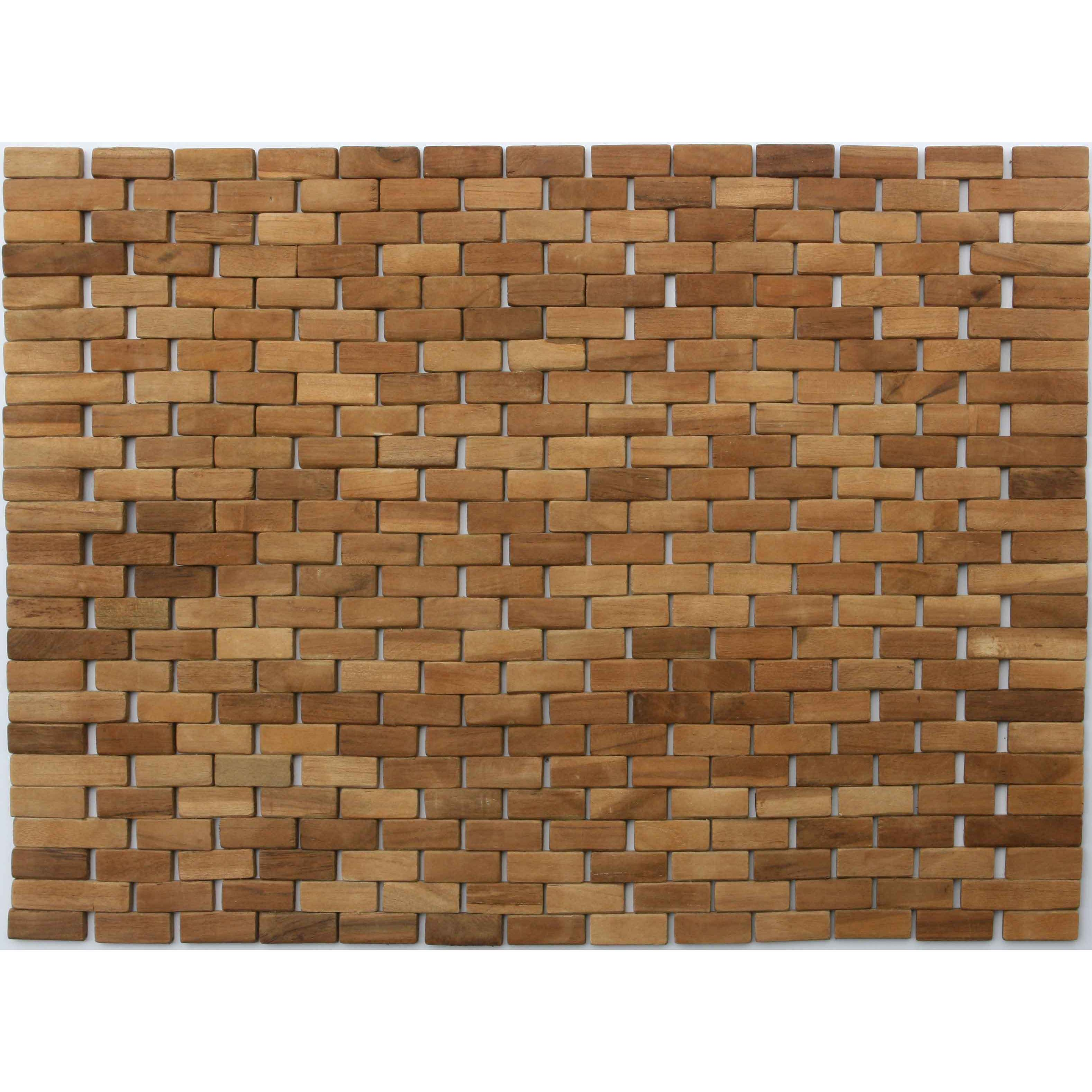 Shop Teak Indoor/ Outdoor Bath and Shower Mat - Free Shipping On ...