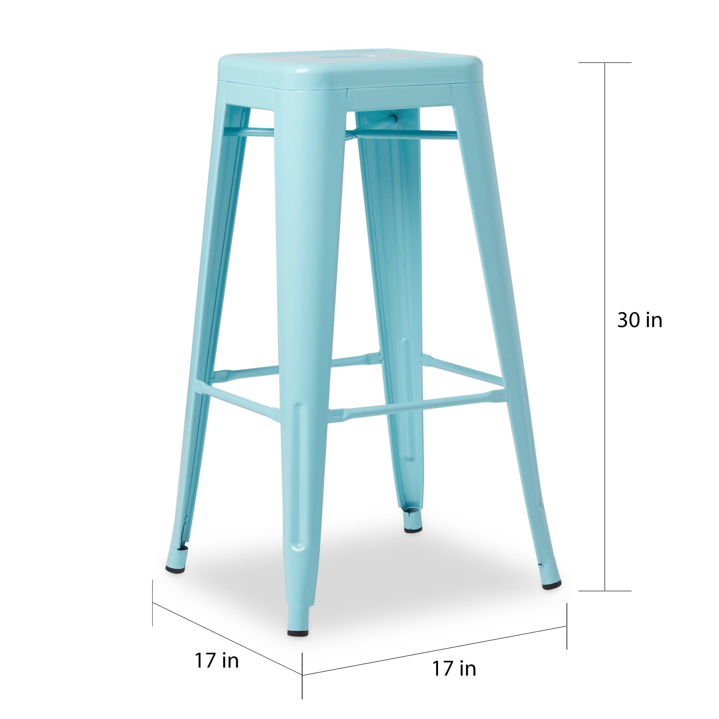 Carbon Loft Tabouret 30-inch Light Blue Bar Stool (Set of 2) - Free ...