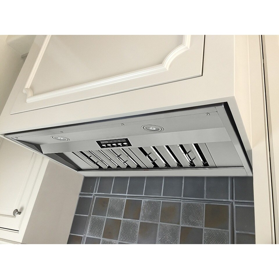 Kobe In2630sqb 650 5 Deluxe 30 Built In Insert Range Hood 4 Sd 700 Cfm Led Lights Baffle Filters