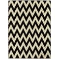 LYKE Home Hand-woven Black Chevron Area Rug (8' x 11')