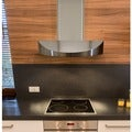 KOBE CHX3830SQB-WM-2 Brillia 30-inch Wall Mount Range Hood, 3-Speed, 650 CFM, LED Lights, Baffle Fil