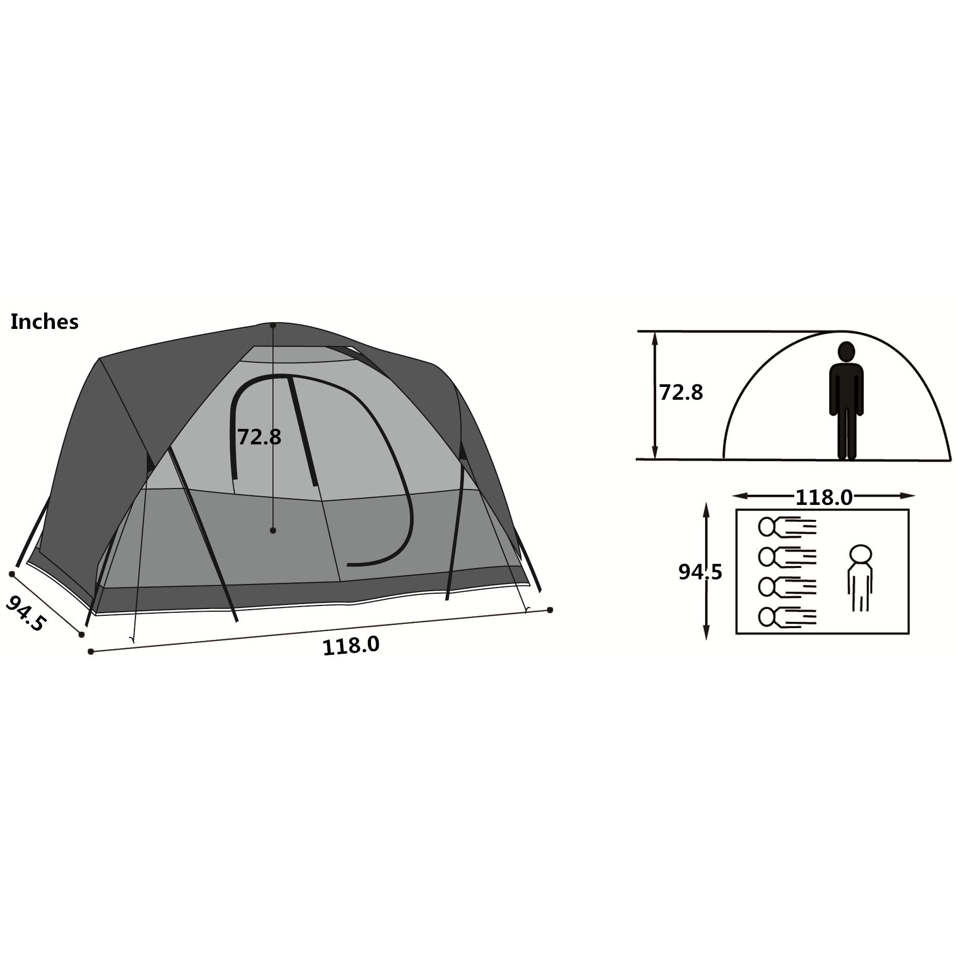 Semoo Waterproof 5-Person Family C&ing/ Travelling Tent with Compression Bag - Free Shipping Today - Overstock.com - 18130780  sc 1 st  Overstock & Semoo Waterproof 5-Person Family Camping/ Travelling Tent with ...