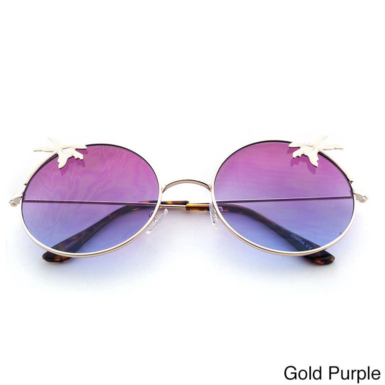 48fe905cc8a Shop Epic Eyewear Tropical Love Oversized Wired Round Frame Fashion Uv400  Sunglasses - Free Shipping On Orders Over  45 - Overstock.com - 11130189