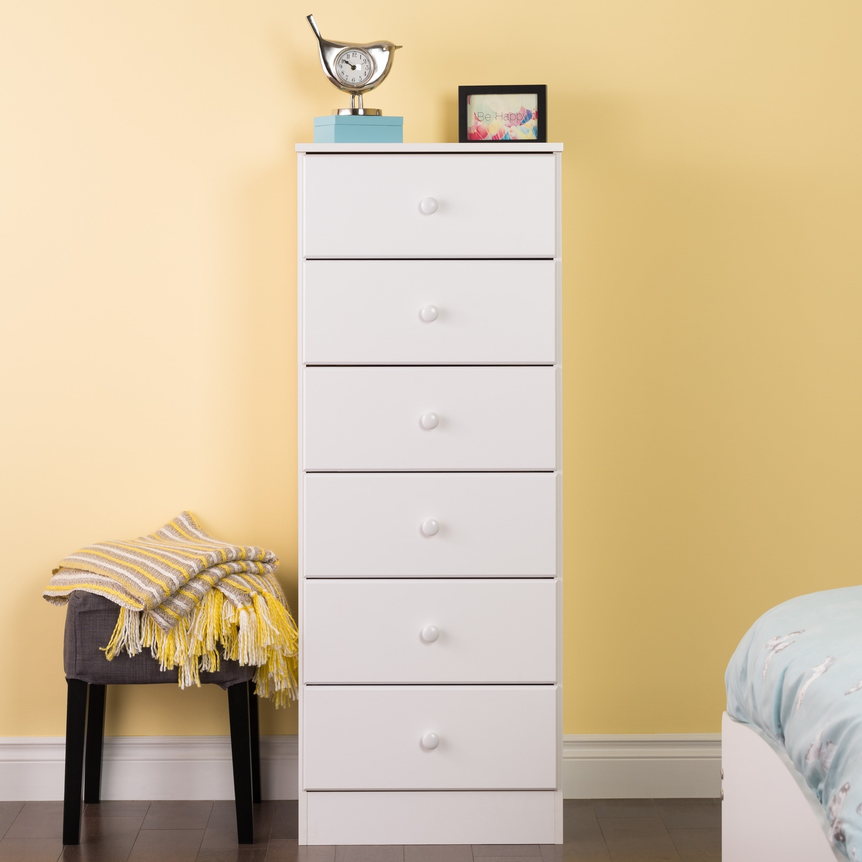 Shop Bella 6-Drawer Tall Chest, White - Free Shipping Today ...