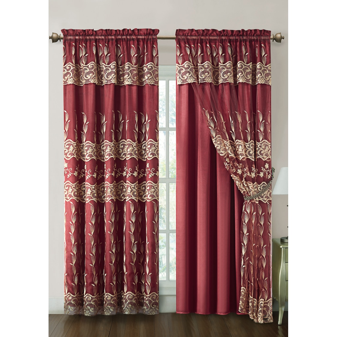 tremendous curtain penneys size amazing commendable furniture burgundy with kitchen refreshin stunning valance ideas ashley curtains avery of waverly inch frightening laura full lace window lovable windows treatments design valances va for