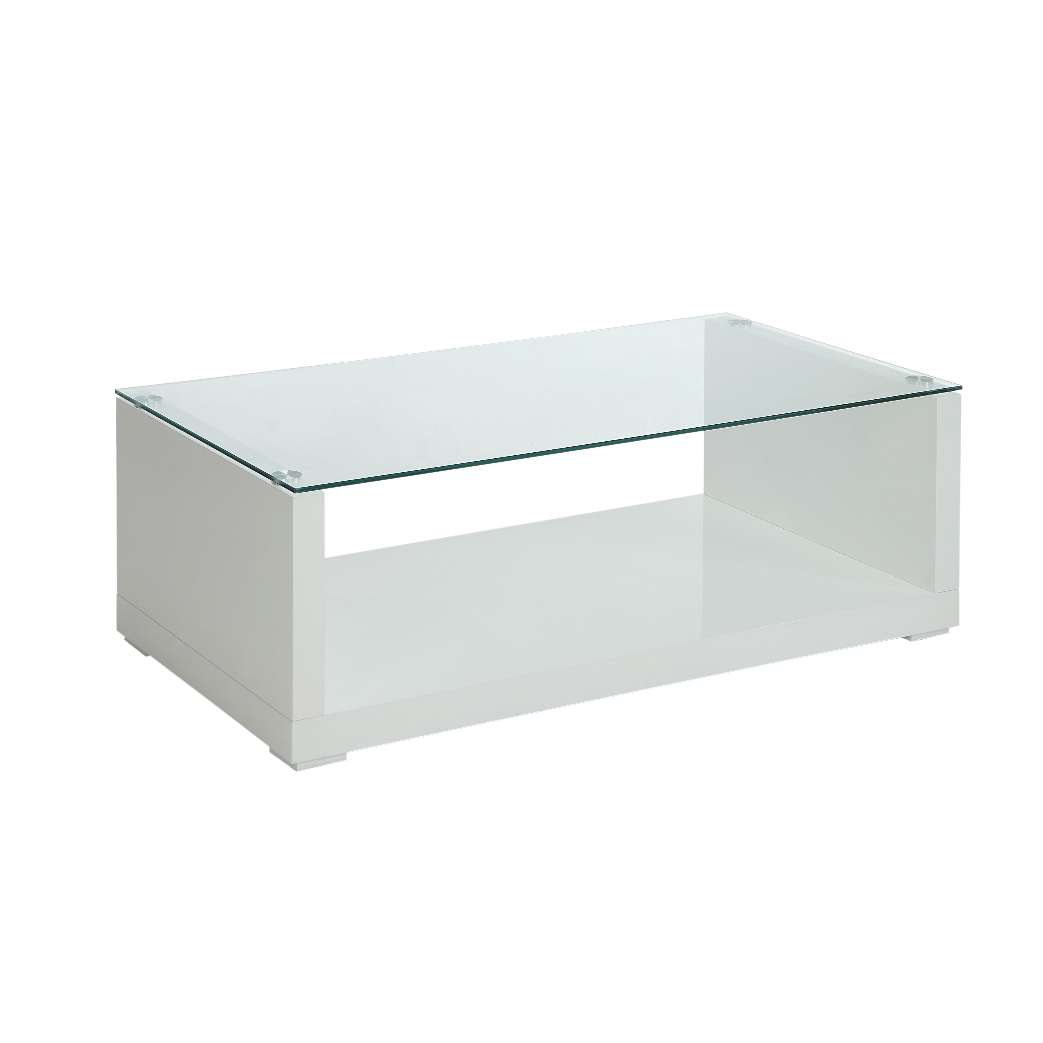 Shop Furniture Of America Shura Contemporary High Gloss White Coffee Table    Free Shipping Today   Overstock.com   11138010