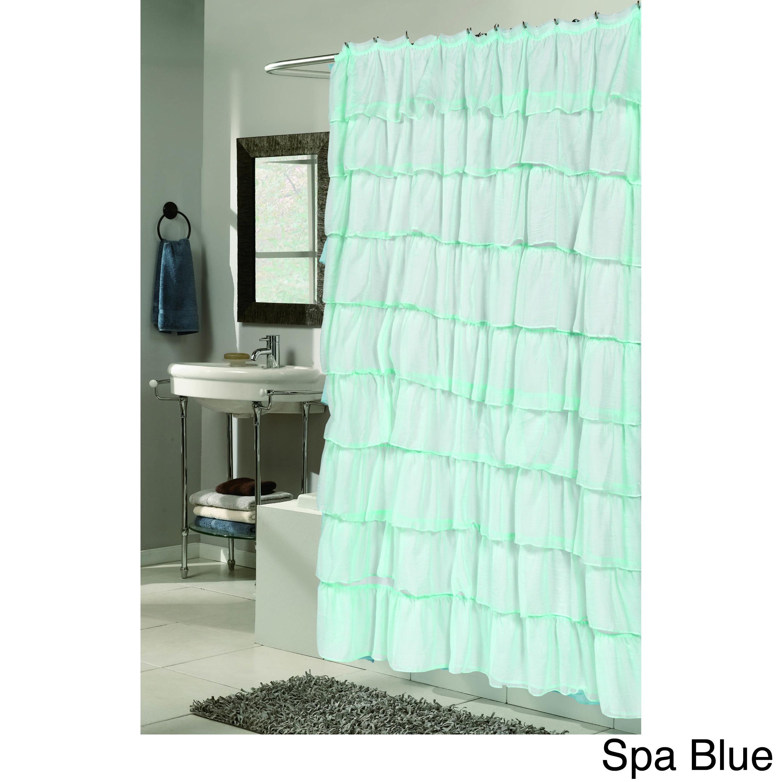 Shop Carmen Polyester Ruffled Shower Curtain