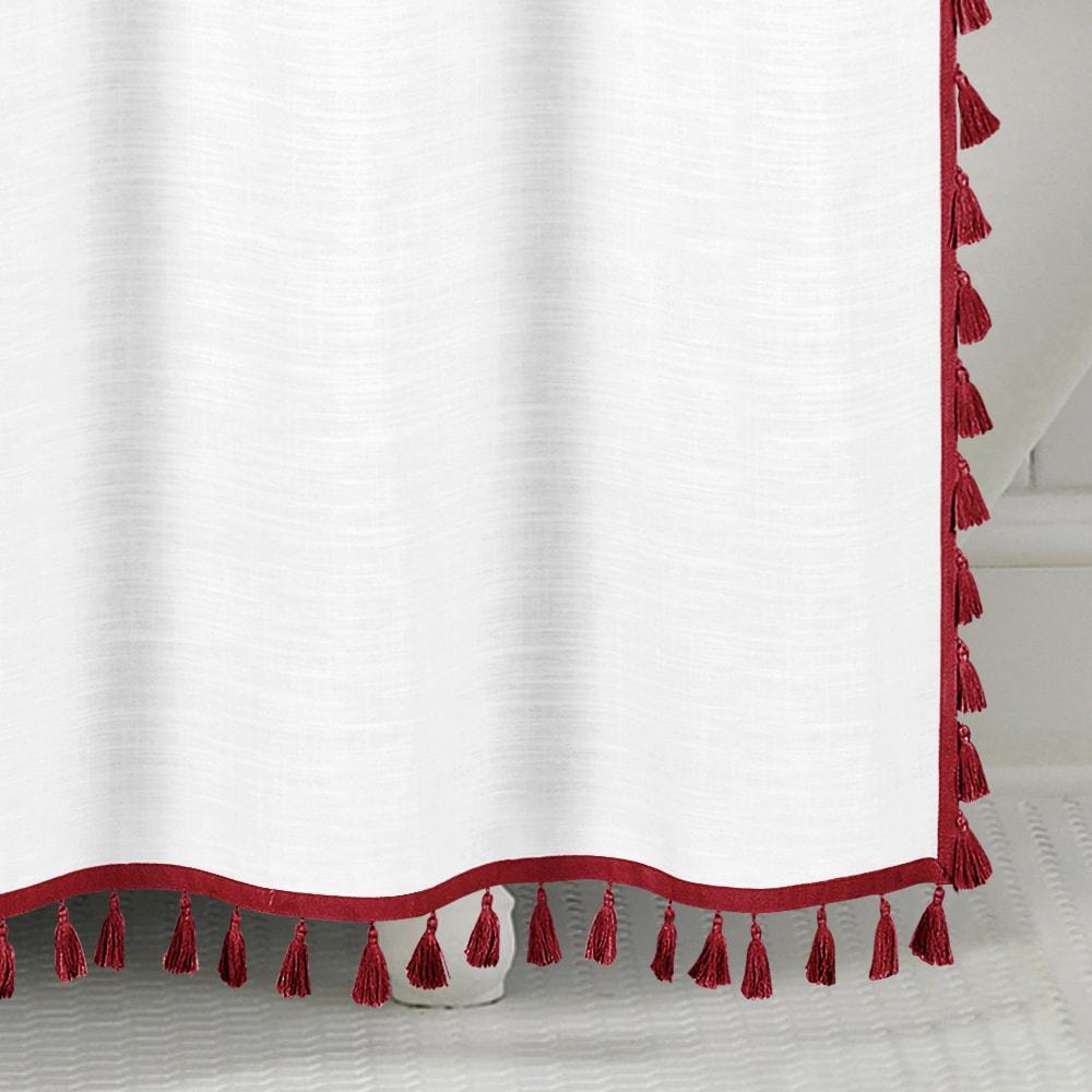 Echelon Home Tassel Shower Curtain - Free Shipping Today ...
