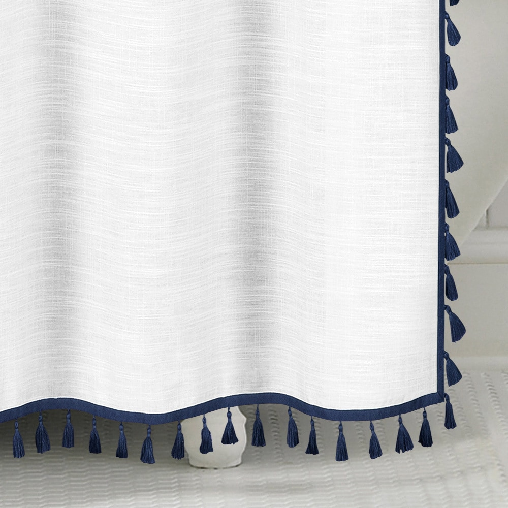 Shop Echelon Home Tassel Shower Curtain