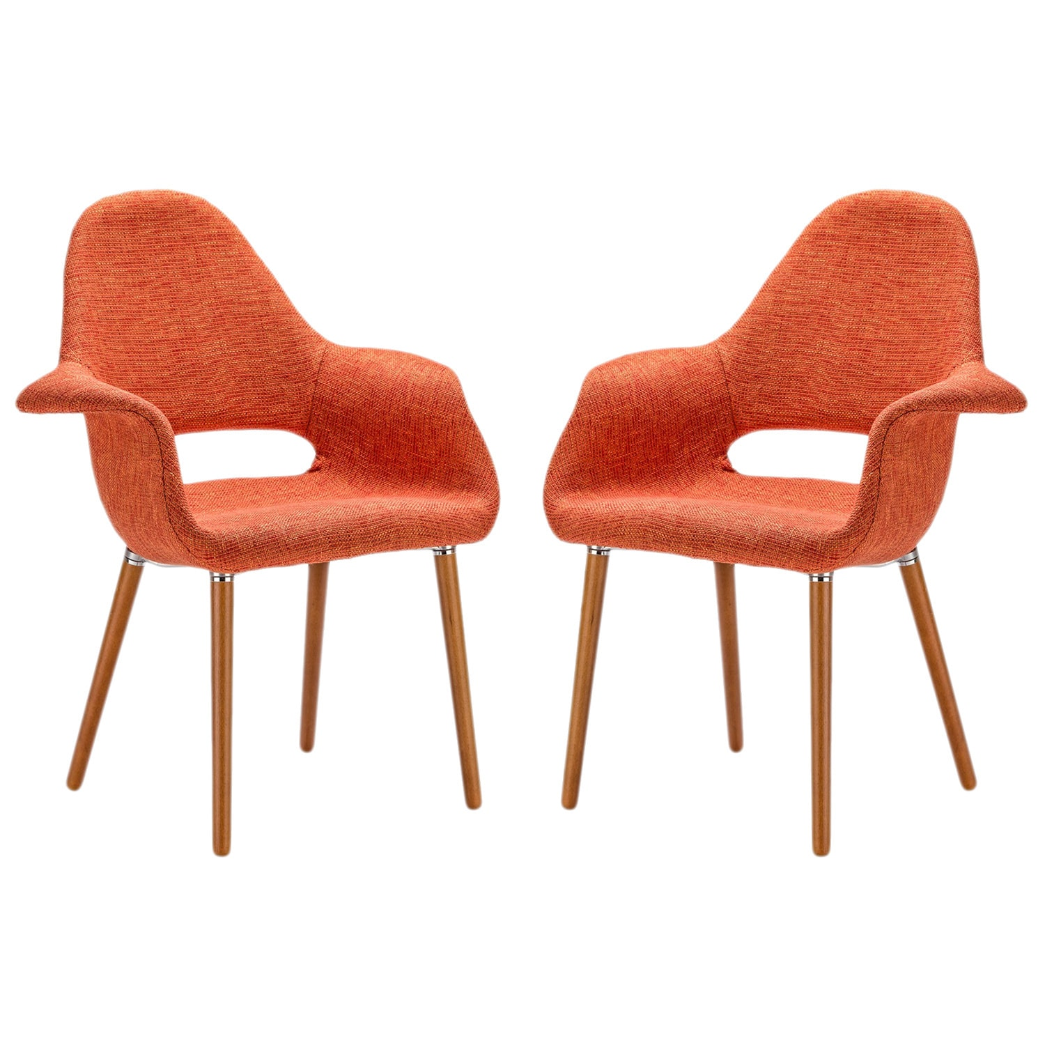 Merveilleux Shop Poly And Bark Barclay Orange Upholstered Dining Chair (Set Of 2)   On  Sale   Free Shipping Today   Overstock.com   11142144