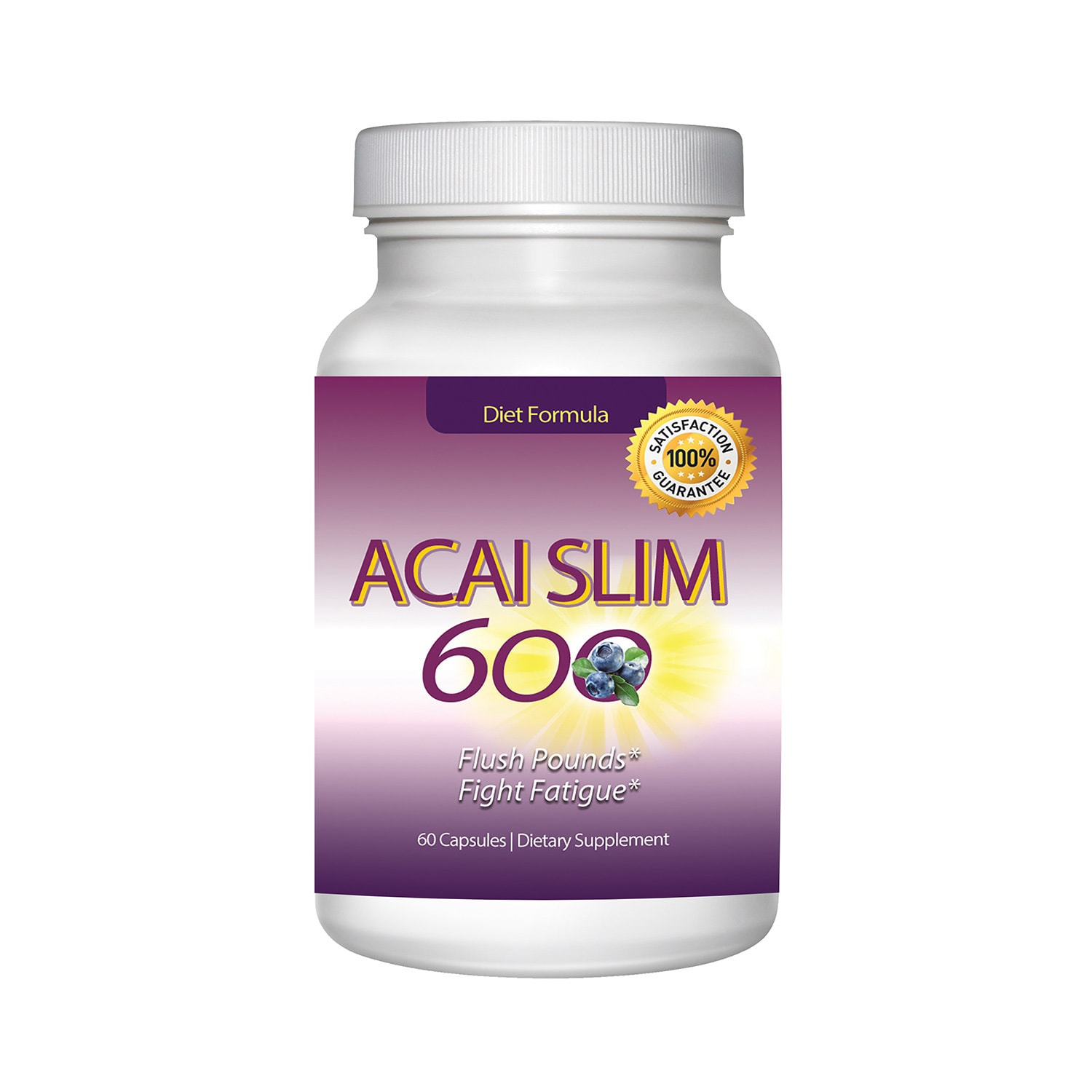 Shop Acai Slim Berry Extract 600mg 60 Capsules Overstock
