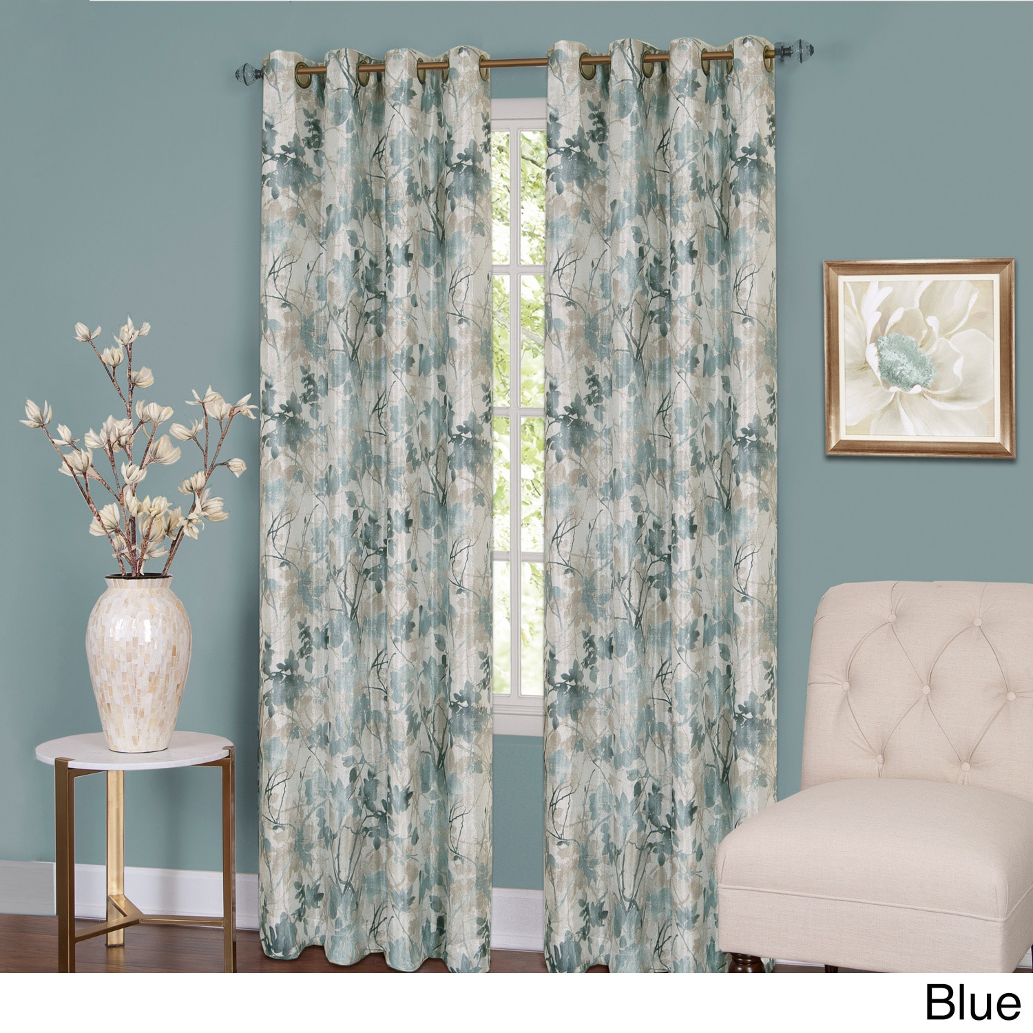 Shop Achim Tranquil Lined Grommet Curtain Panel