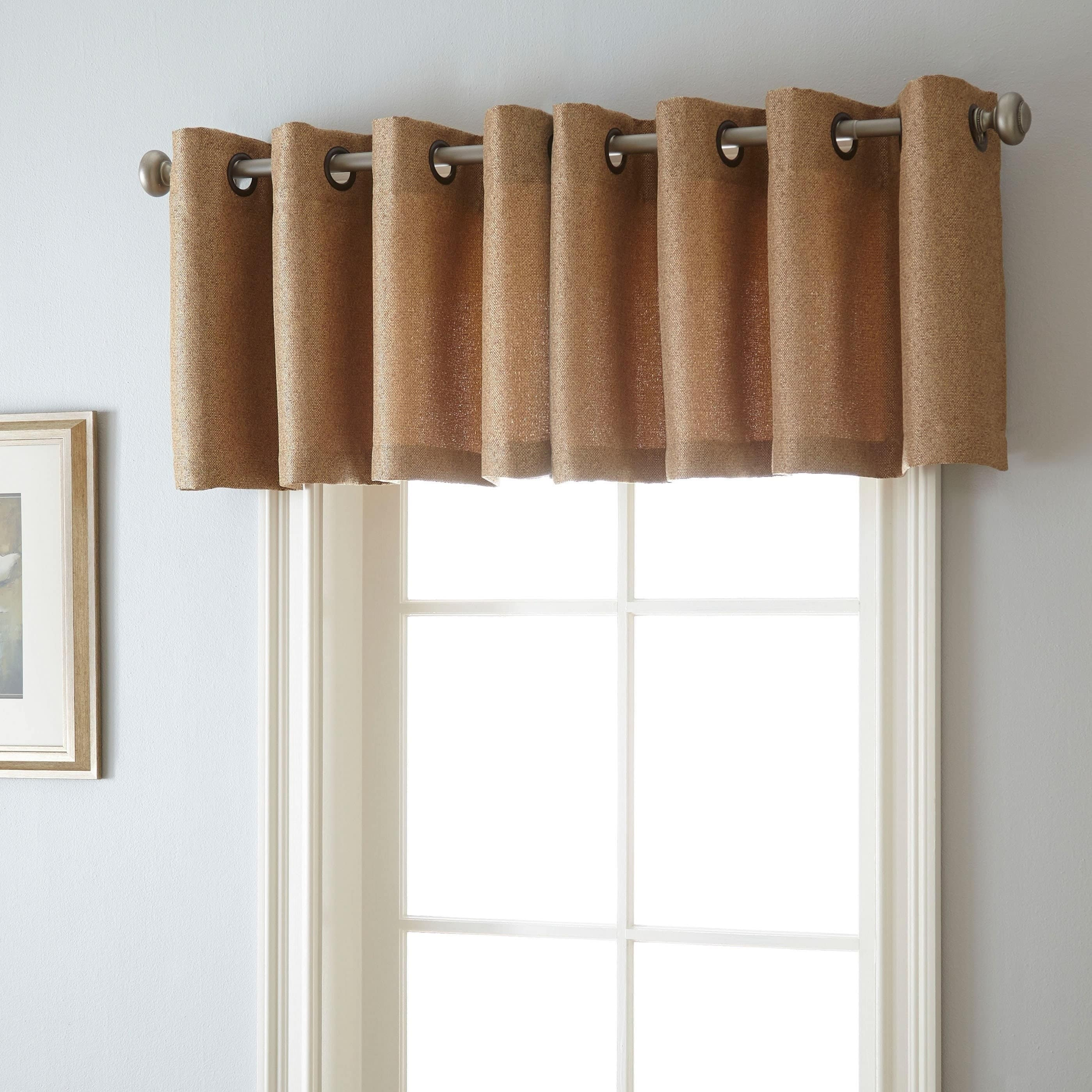 Nanshing Aruba 54-inch x 18-inch Grommet-top Curtain Valance - Free ... for Grommet Curtains With Valance  599kxo