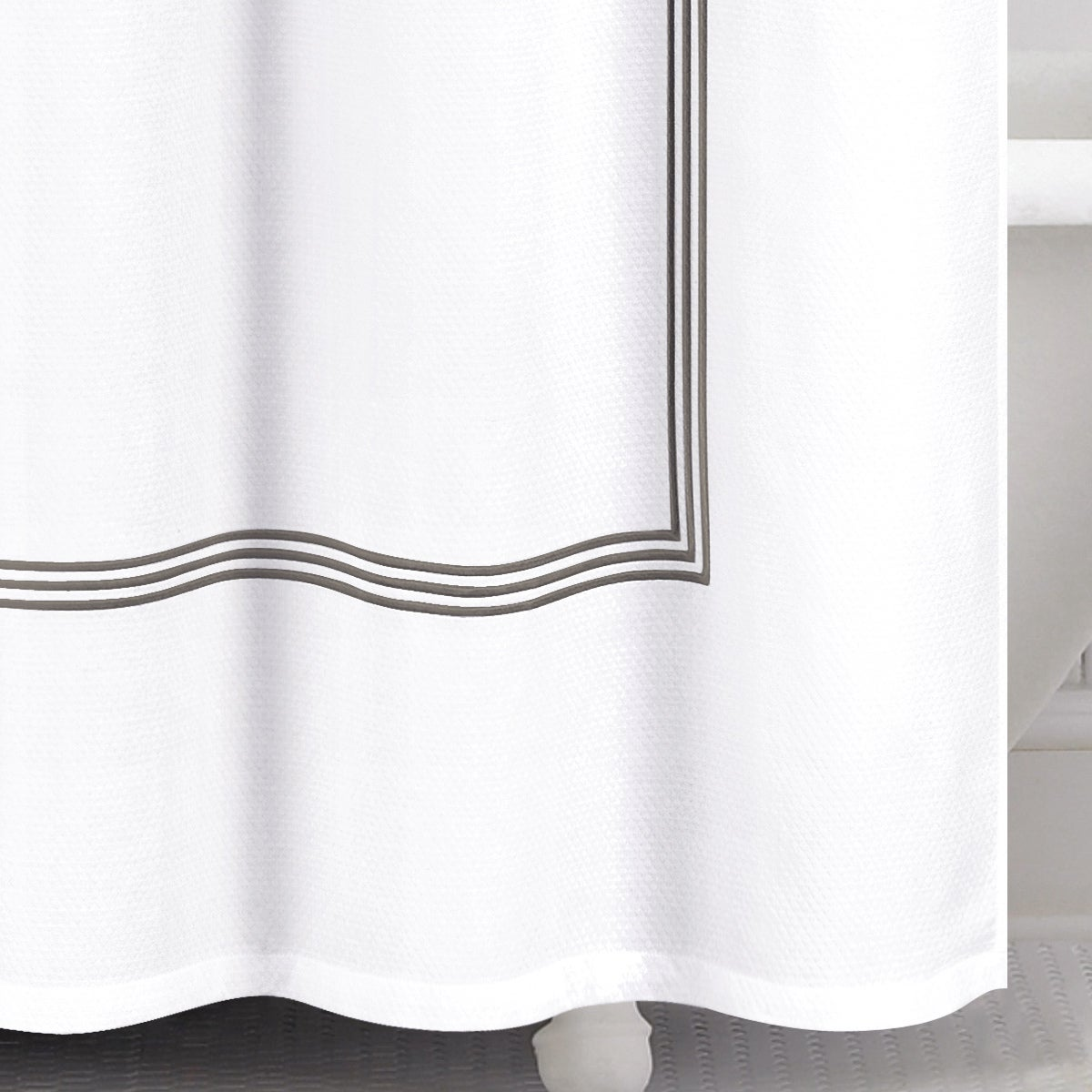 Shop Echelon Home Three Line Hotel Collection Matelasse Shower Curtain