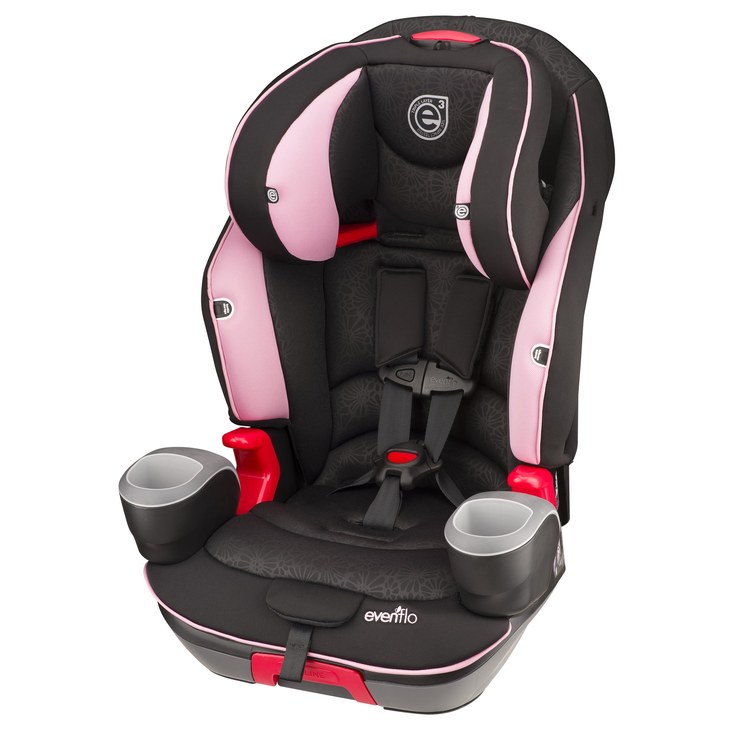 Shop Evenflo Evolve Booster Car Seat In Pink Daisies