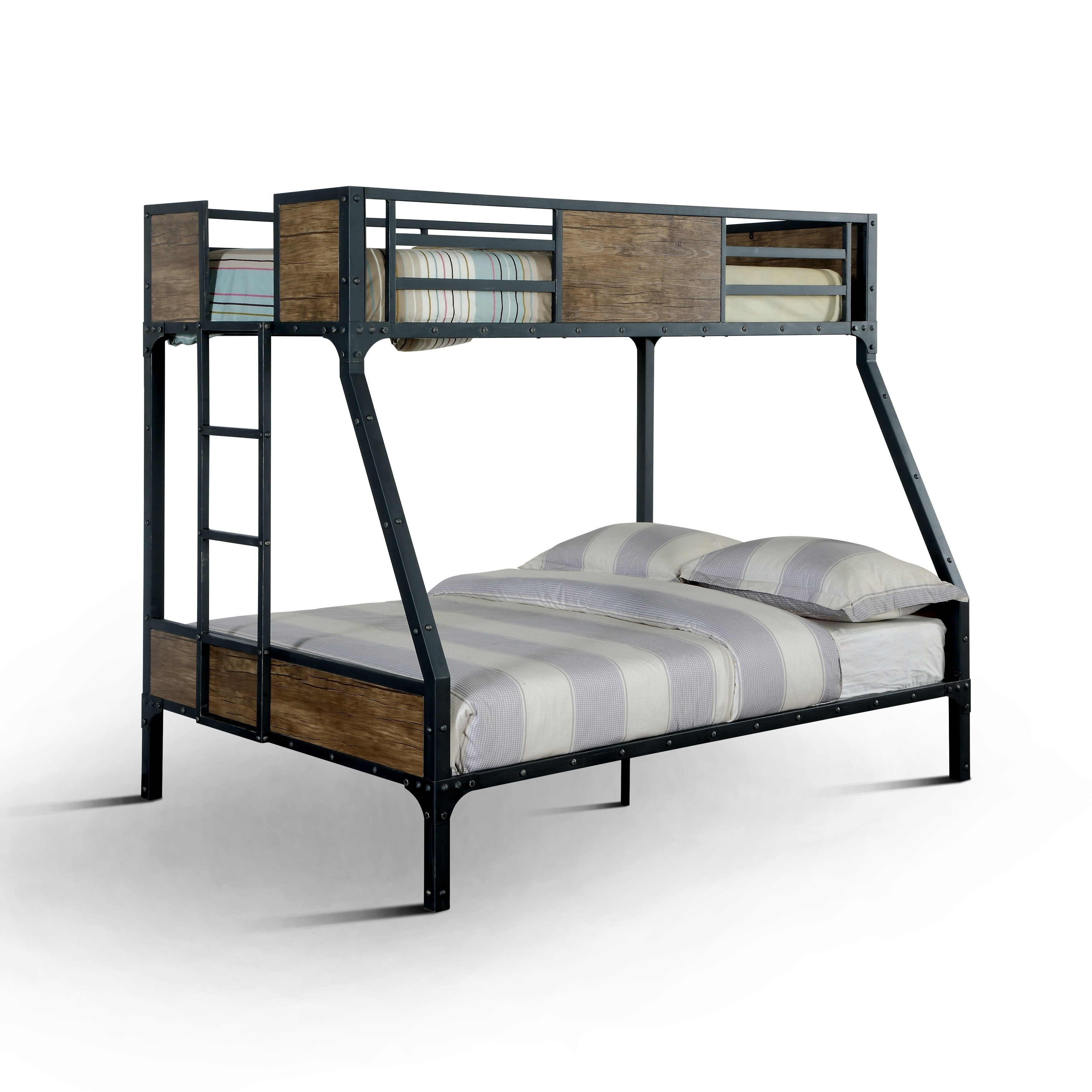Shop Furniture Of America Markain Industrial Metal Bunk Bed On