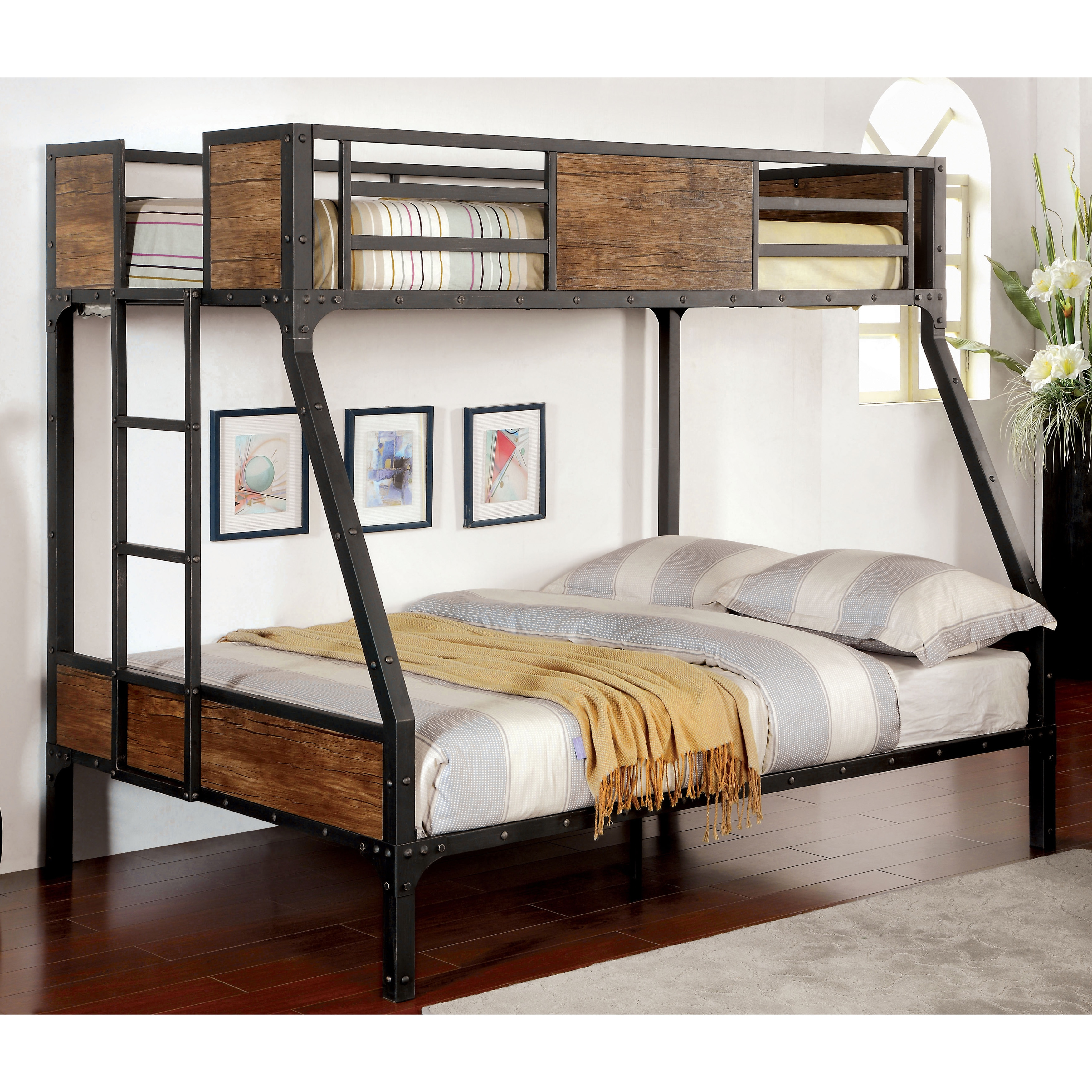 Furniture of America Markain Industrial Metal Bunk Bed - Free Shipping  Today - Overstock.com - 18147238
