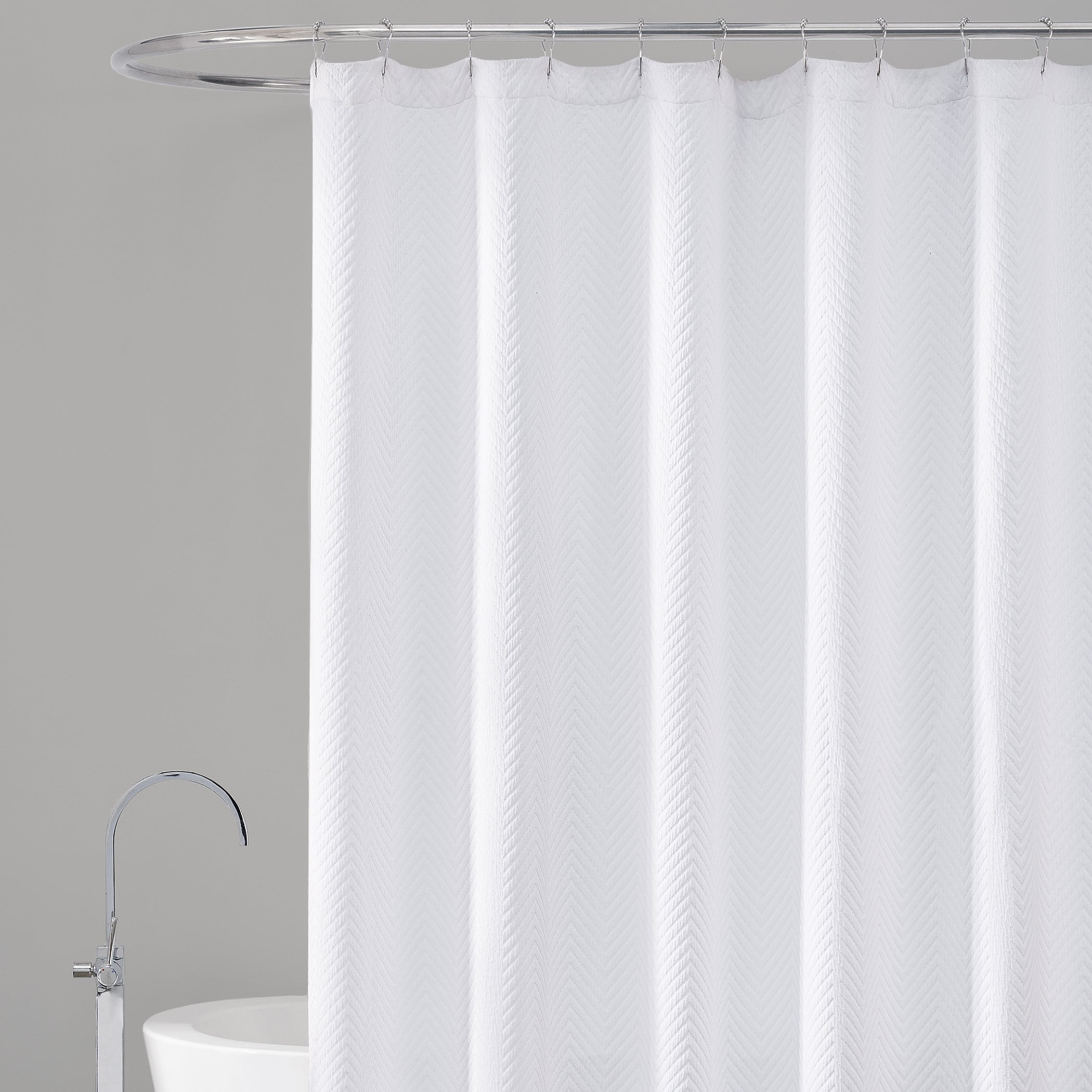 shower white newport waffle weave products furniturefresh curtain curtains