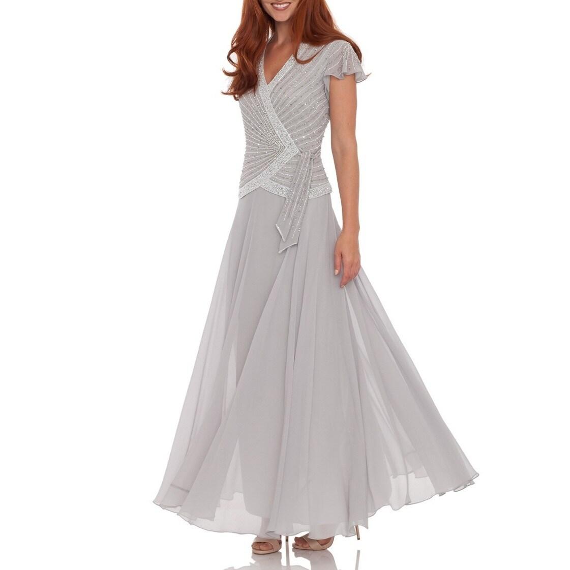 Shop J Laxmi Women\'s Silver Beaded-bodice Dress - Free Shipping ...