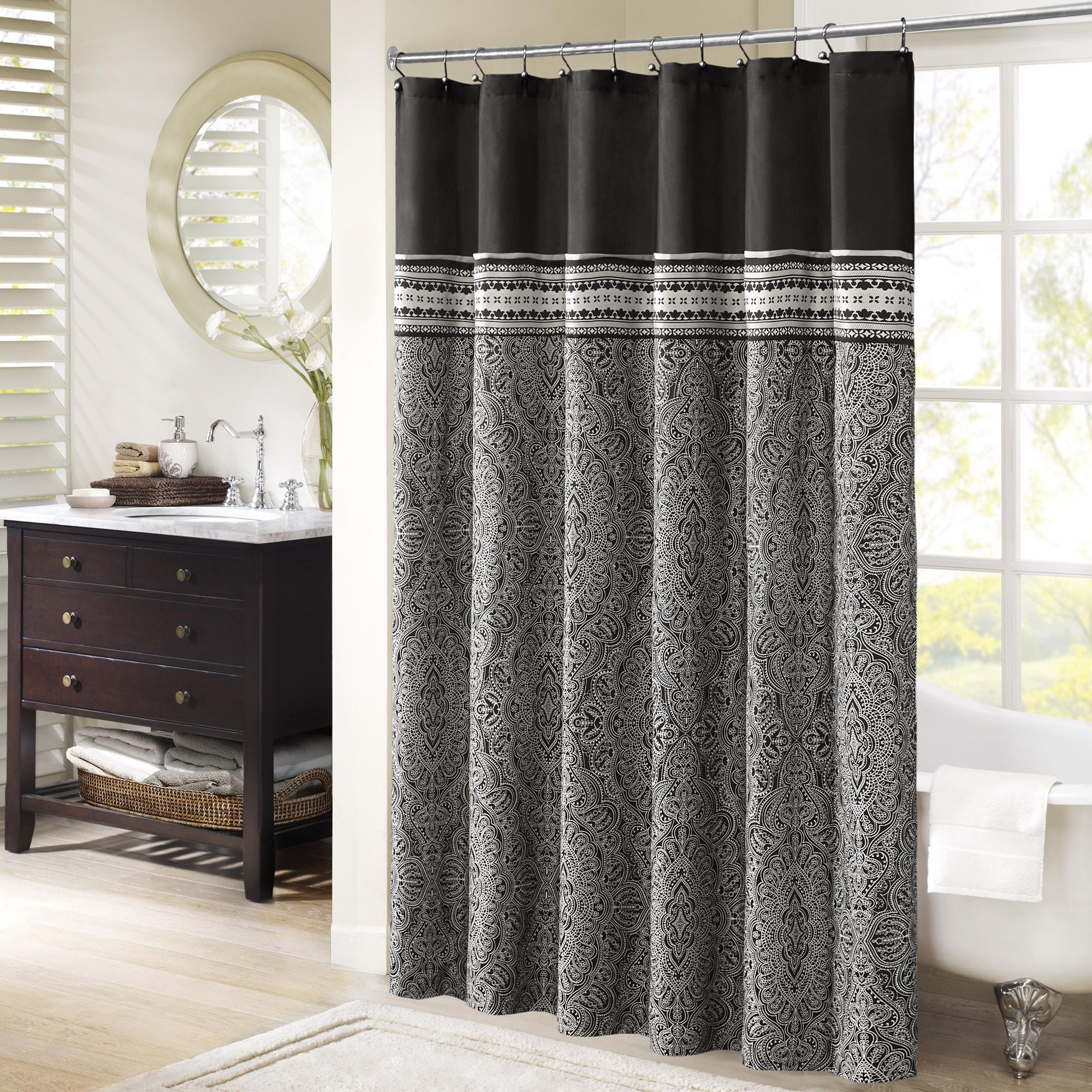 Beautiful Shop Madison Park Denton Jacquard Shower Curtain   Free Shipping Today    Overstock.com   11153067