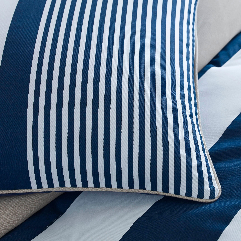 Izod Classic Stripe 4 Piece White Blue And Khaki Comforter Set On Sale Overstock 11153070