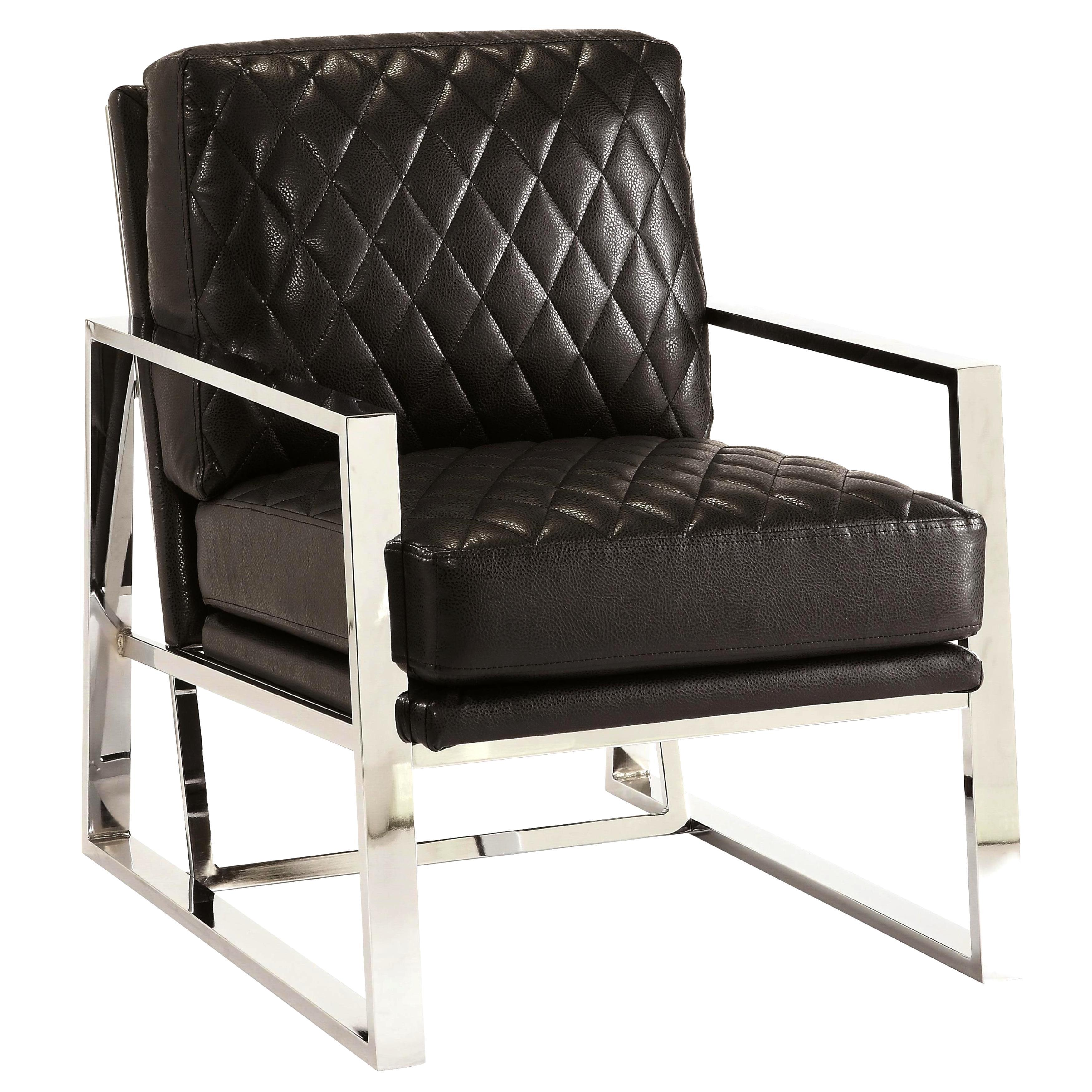 Eclipse Mid Century Modern Black Chrome Bold Design Accent Chair   Free  Shipping Today   Overstock   18153766