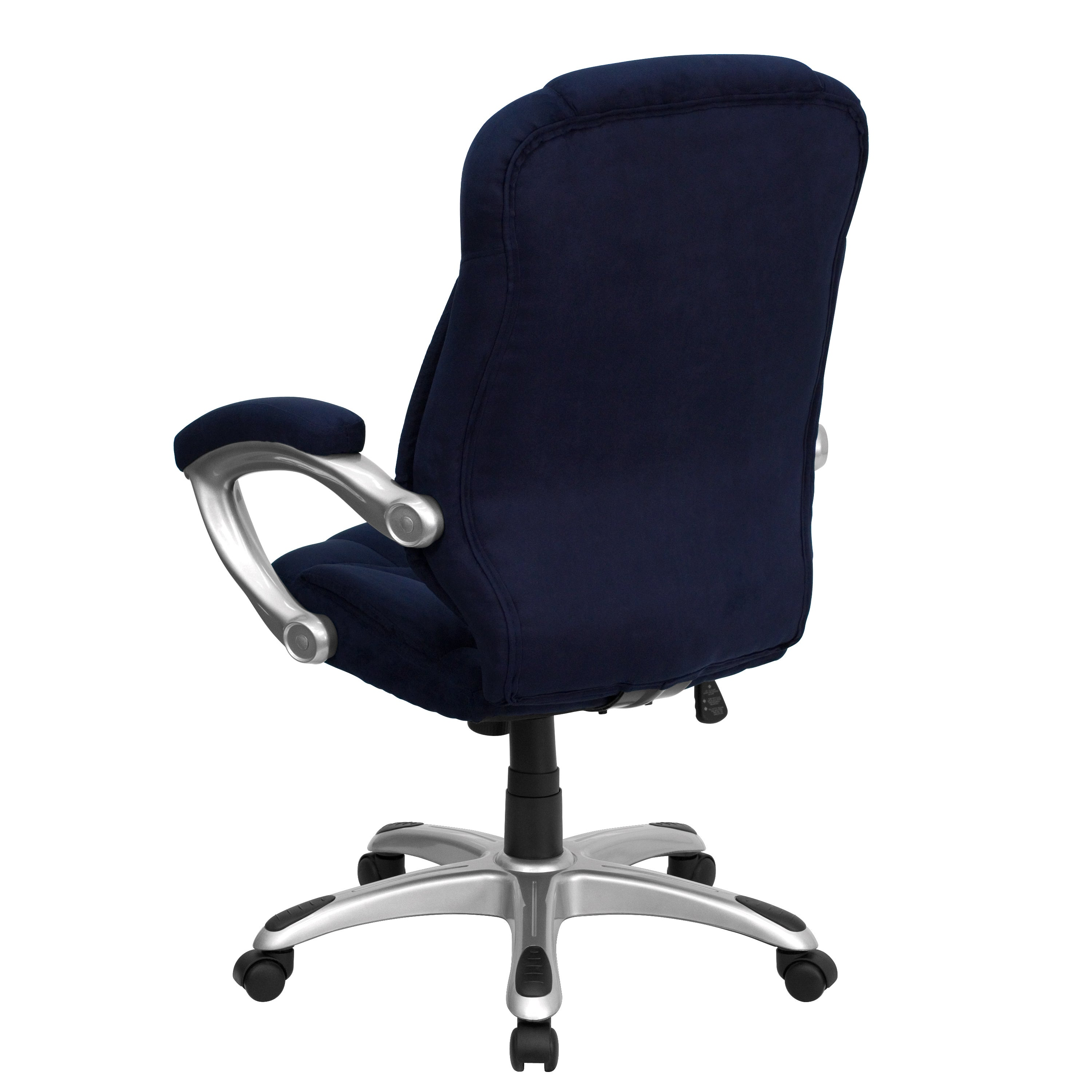 Malaga Executive Navy Blue Microfiber Adjule Swivel Office Chair With Padded Arms Free Shipping Today 11157463