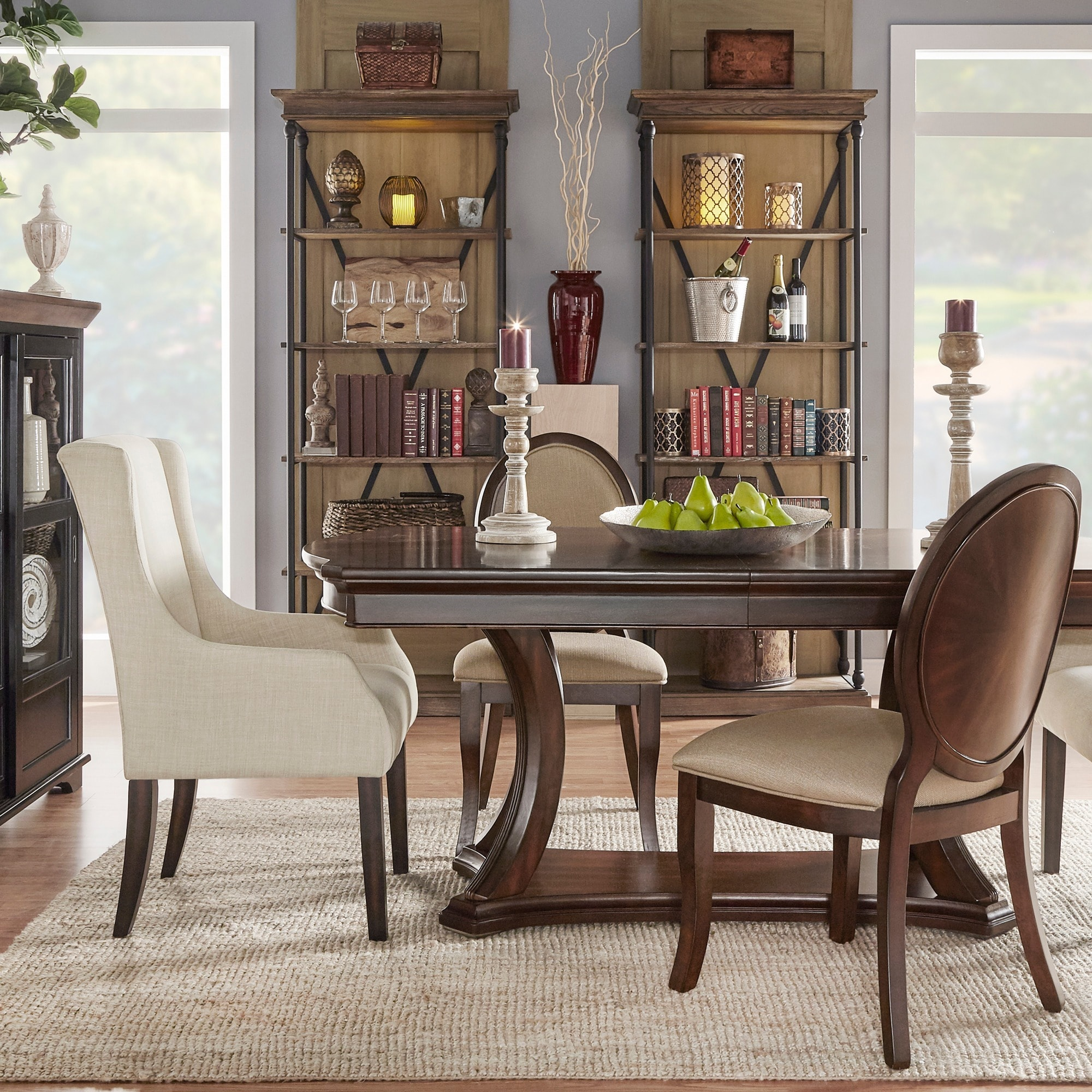 Verdiana Rich Brown Cherry Finish Extending Dining Table By Inspire Q Clic