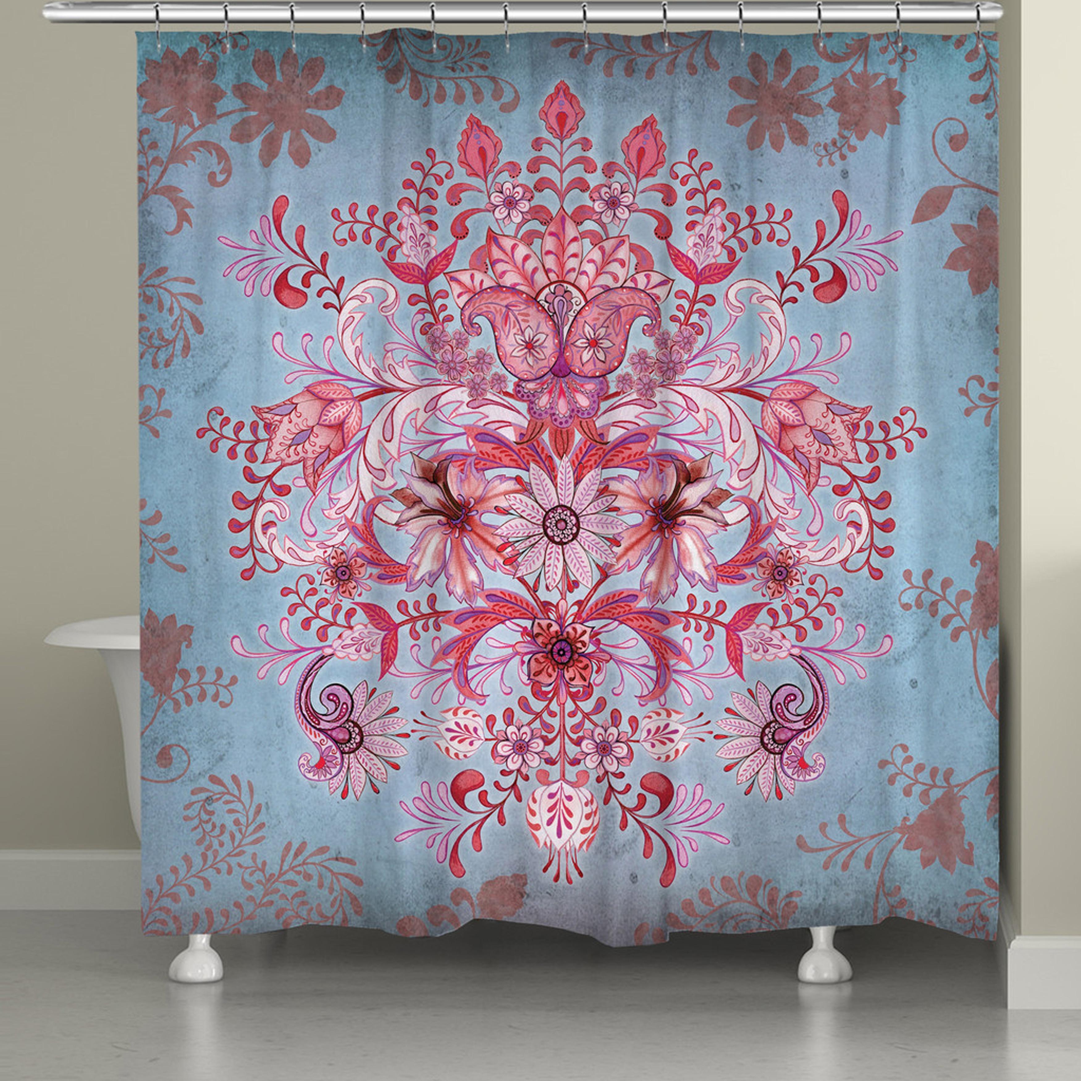 Shop Pink Bohemian Shower Curtain