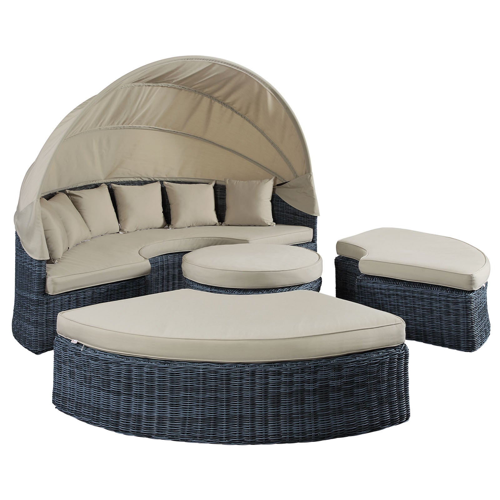 Summon Canopy Outdoor Patio Daybed On Free Shipping Today 11161395