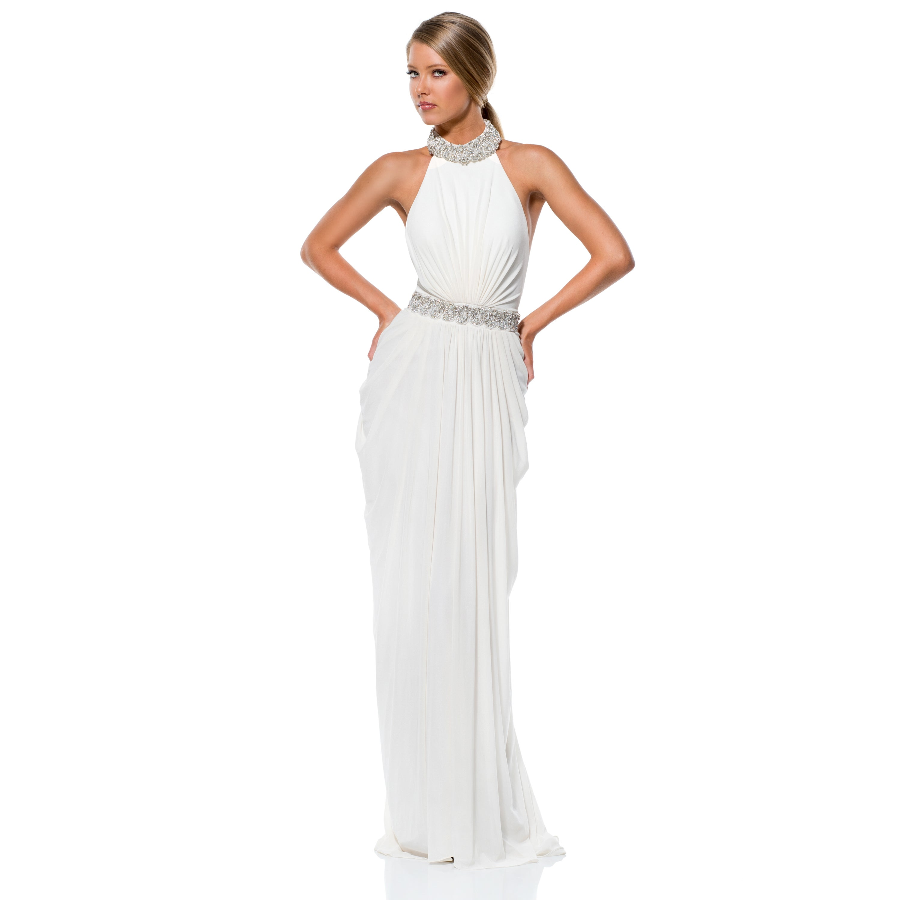 Terani Couture Halter Top Wedding Gown - Free Shipping Today ...