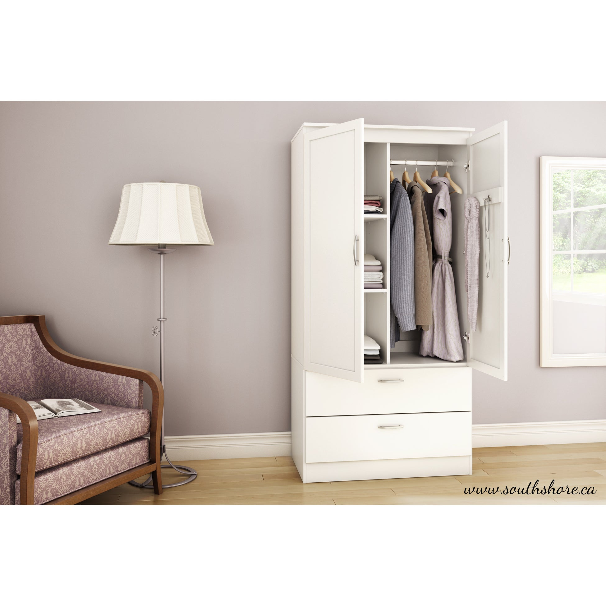 Incroyable South Shore Acapella Wardrobe Armoire   Free Shipping Today   Overstock.com    18157358