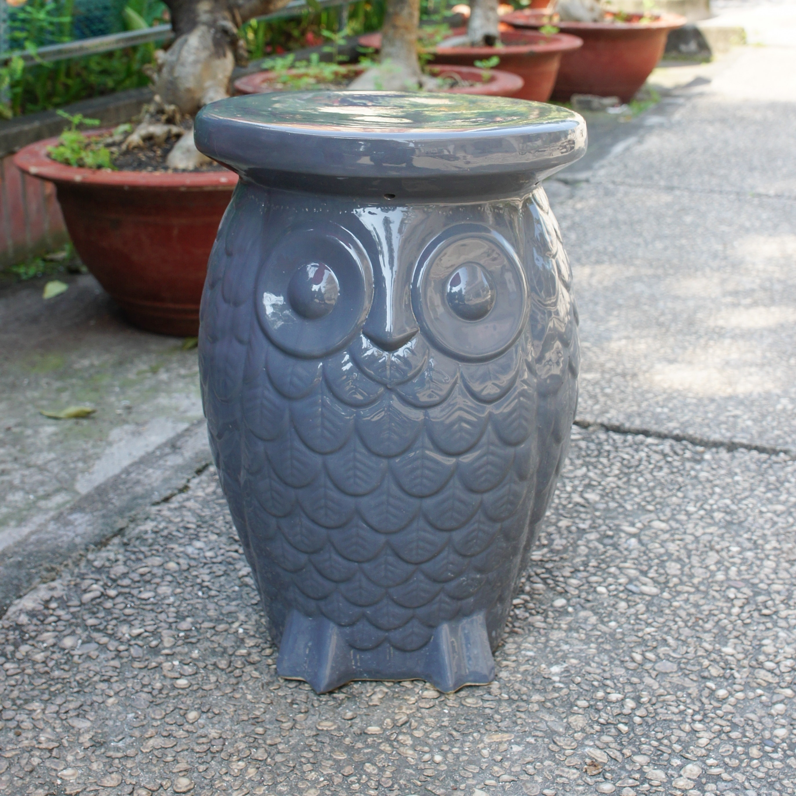 diy garden owl stool francis ferrocement concrete step junction cement or ferro