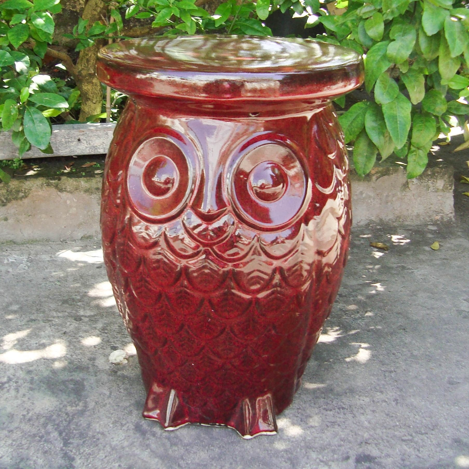 shipping free garden brown product stool com overstock today home wooden natural owl and