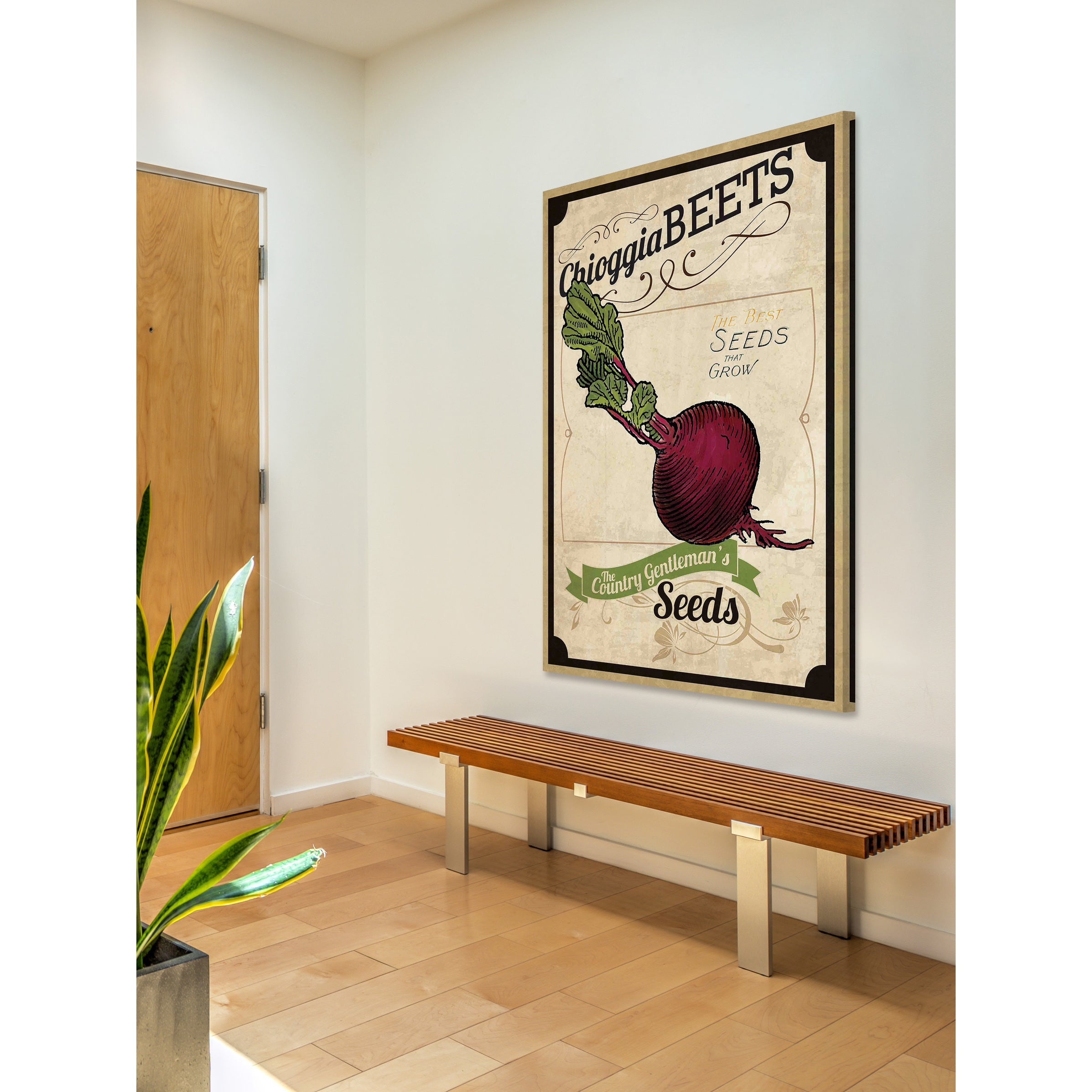 Marmont Hill - \'Seed Packet Beet\' Painting Print on Canvas - Multi ...