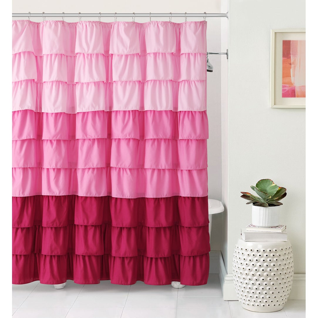 VCNY Sally Ruffle Shower Curtain - 4 colors available - Free Shipping Today  - Overstock.com - 18161868
