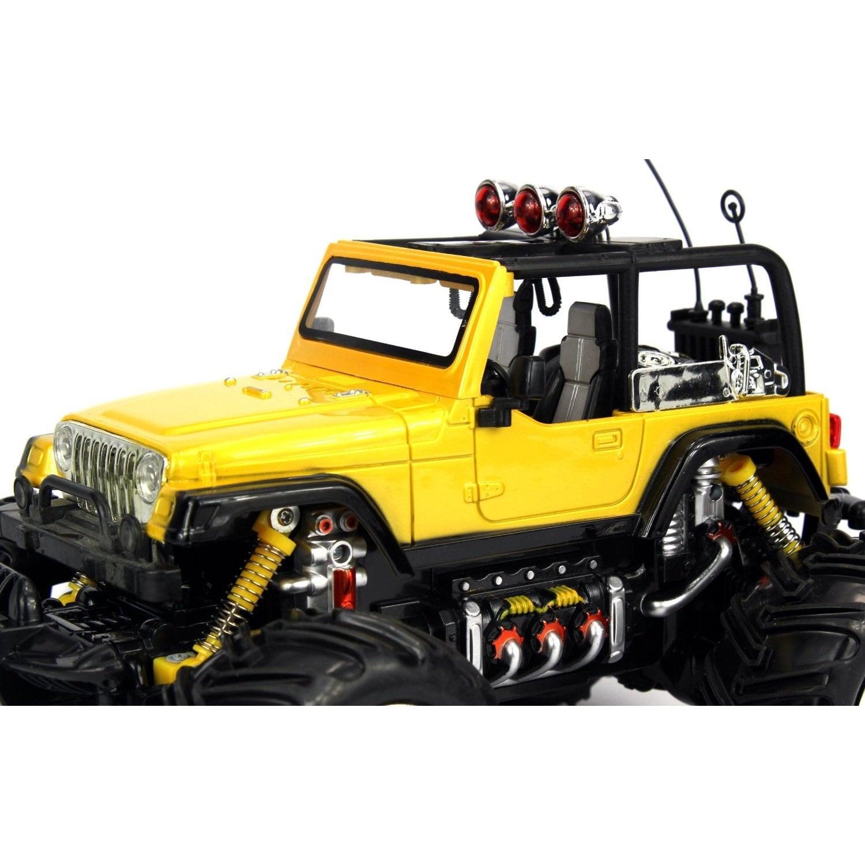 Shop Velocity Toys Jeep Wrangler Remote Control RC Truck 1:16 Scale ...
