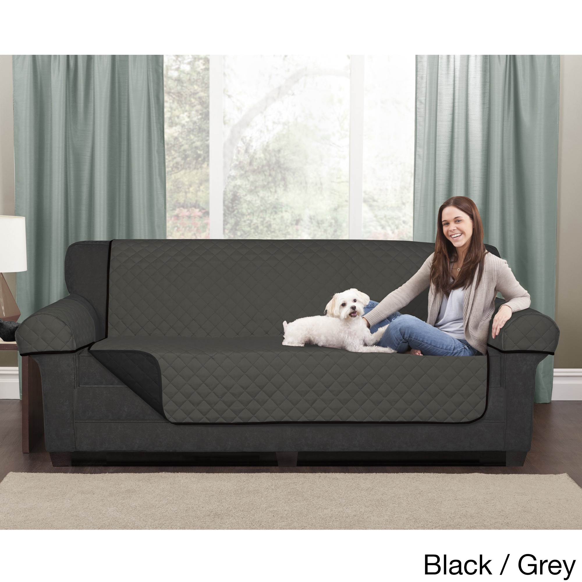Maytex Reversible Microfiber Sofa Pet Furniture Cover 64 5x69 Without Arms Free Shipping On Orders Over 45 11177529