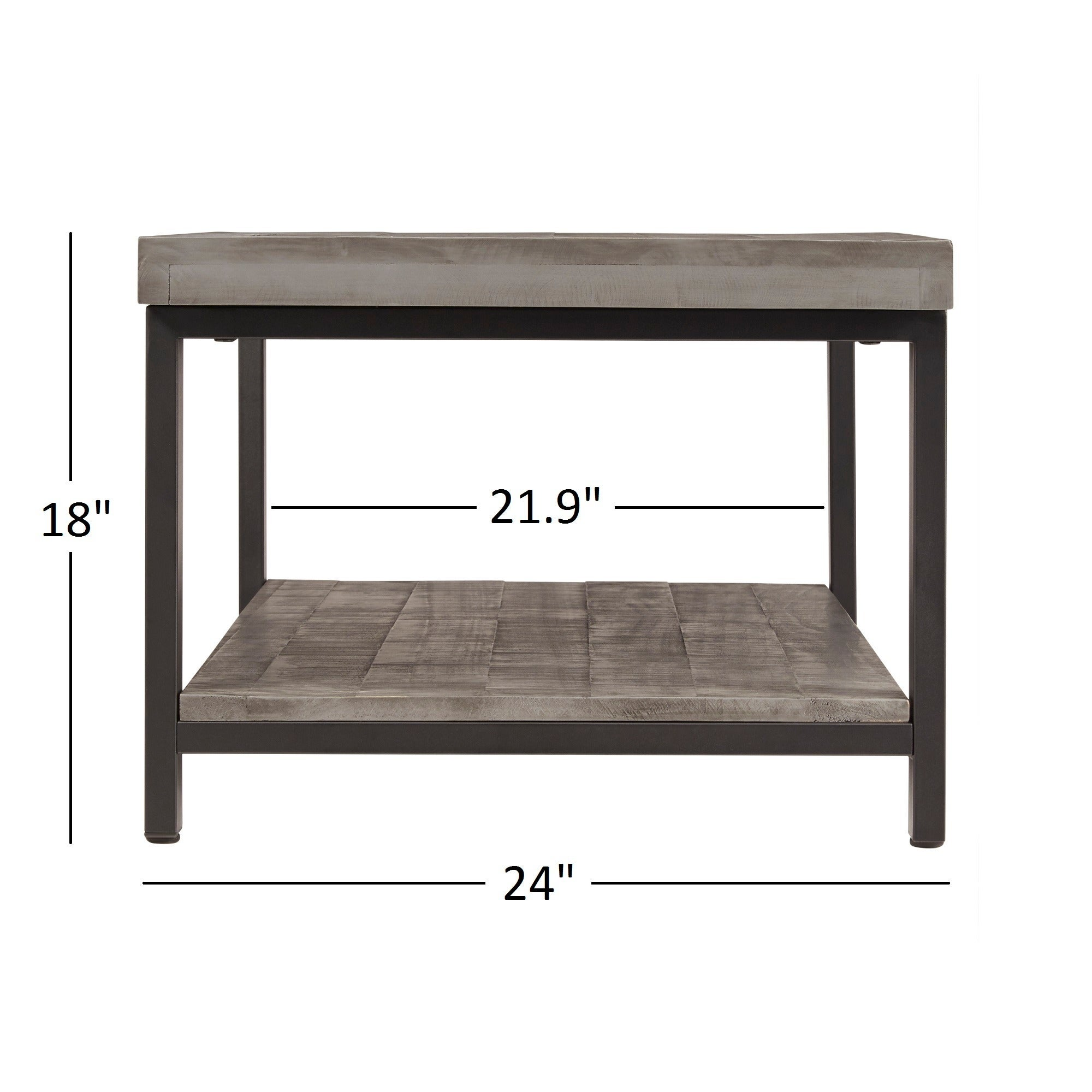 Cyra Industrial Reclaimed Rectangular Coffee Table by iNSPIRE Q Classic -  Free Shipping Today - Overstock.com - 18170856
