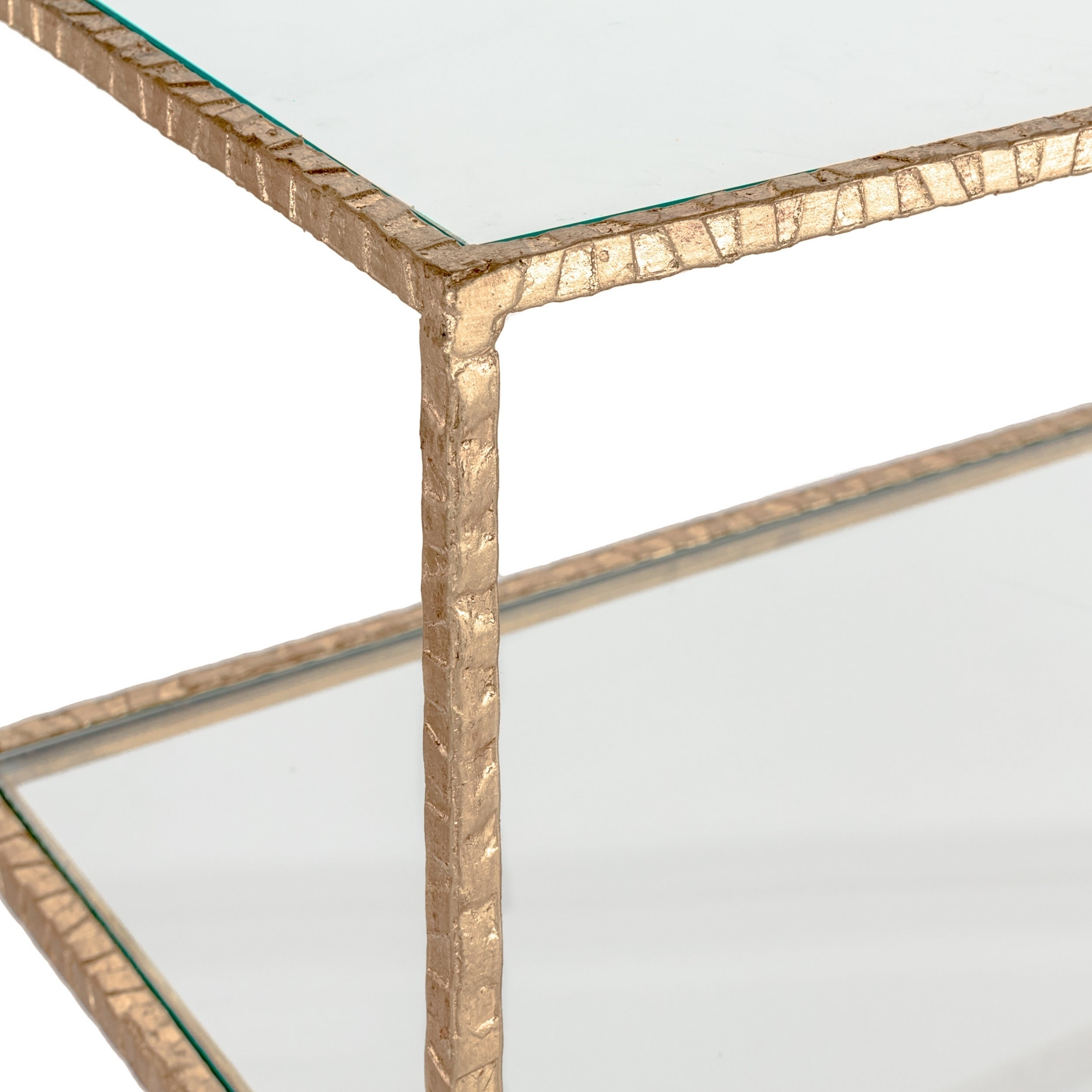 Shop Safavieh Couture High Line Collection Kristina Gold Leaf Console Table    Free Shipping Today   Overstock.com   11188659